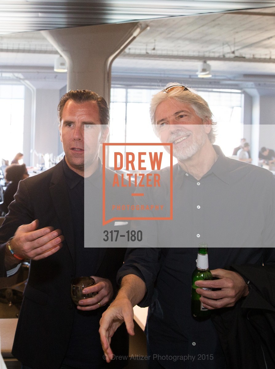 Scott Dadich, Louis Rossetto, Wired Magazine July Cover Release Celebration at New Wired Office, Wired Magazine Offices. 520 3rd Street, June 24th, 2015,Drew Altizer, Drew Altizer Photography, full-service agency, private events, San Francisco photographer, photographer california
