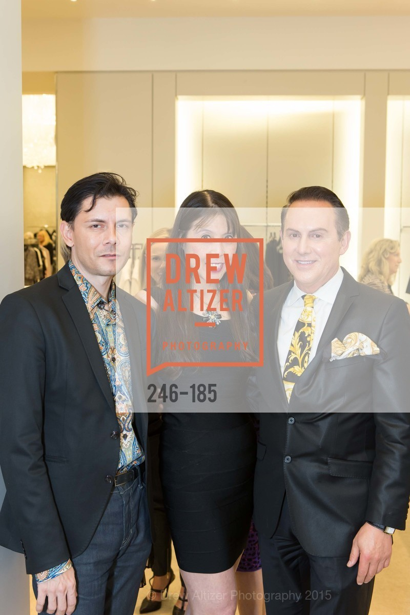 Damion Matthews, Magdalene Chan, Joel Goodrich, Fashion Fights Arthritis Launch Party at St. John, St. John Boutique. 767 Market Street, June 25th, 2015