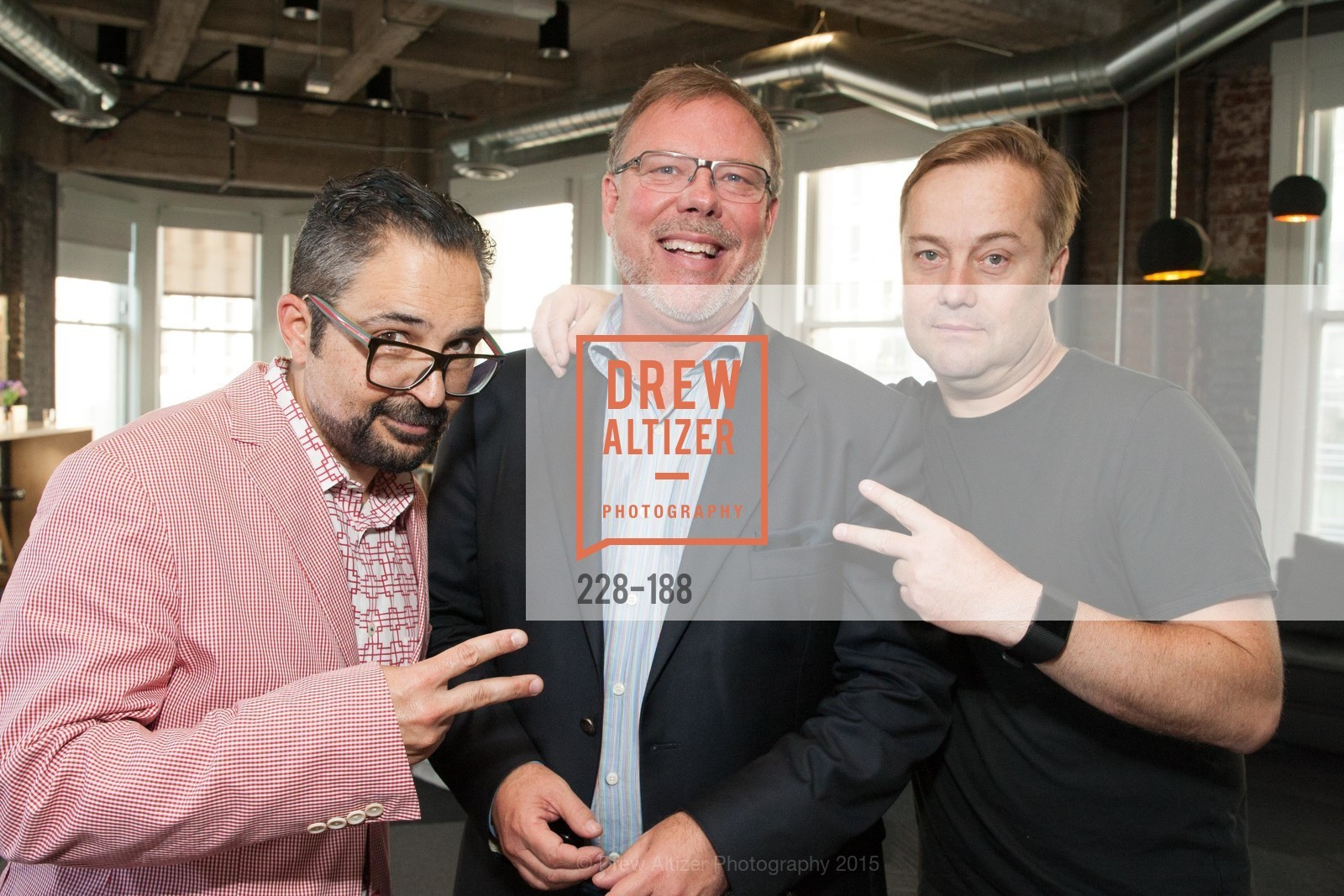 James Joaquin, Alan Green, Jason Calacanis, Twigtale Celebration Hosted By Zem Joaquin, Medium. 760 Market St, June 24th, 2015,Drew Altizer, Drew Altizer Photography, full-service agency, private events, San Francisco photographer, photographer california