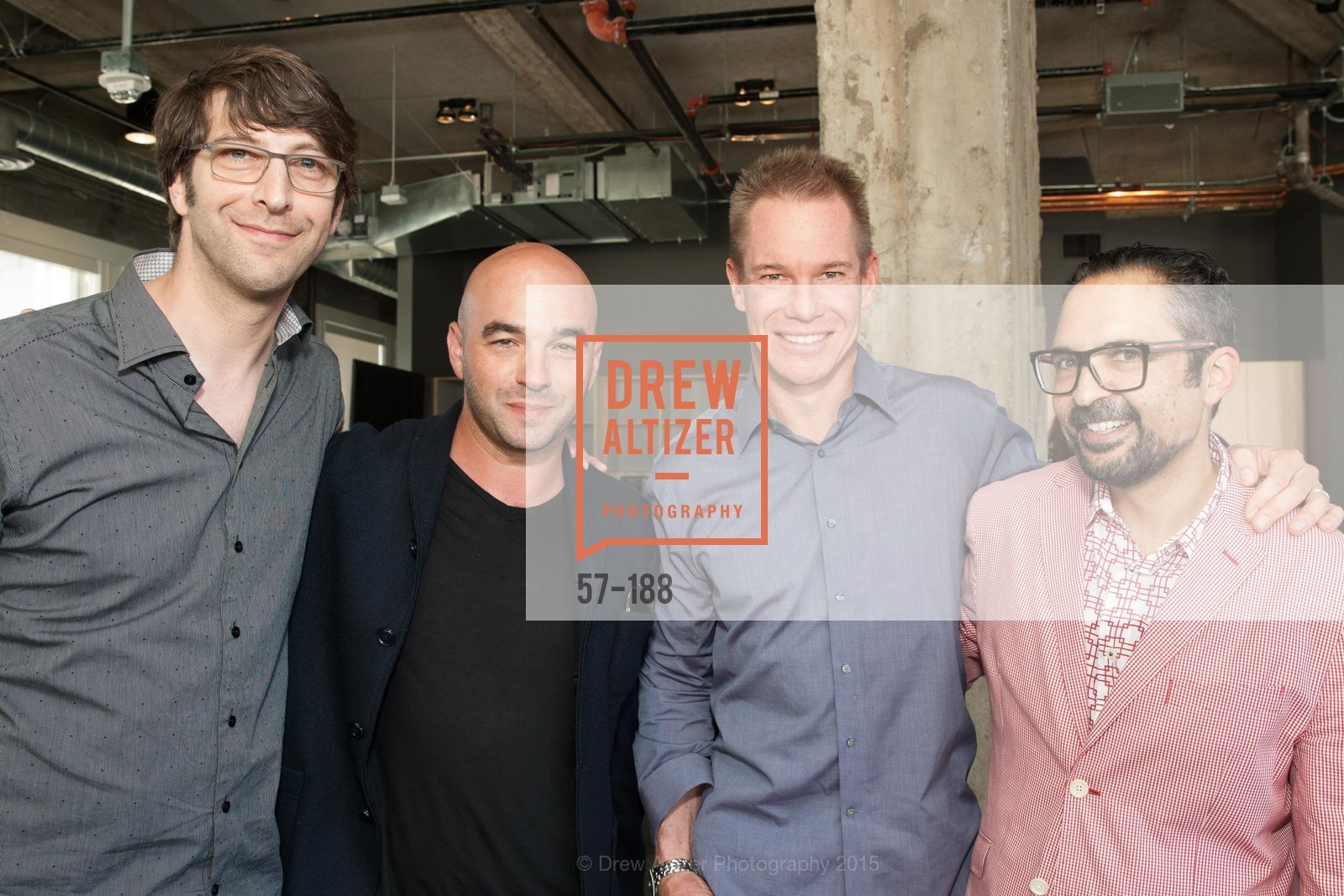 Jay Adelson, Matthew Cowan, Andrew Smith, James Joaquin, Twigtale Celebration Hosted By Zem Joaquin, Medium. 760 Market St, June 24th, 2015,Drew Altizer, Drew Altizer Photography, full-service agency, private events, San Francisco photographer, photographer california