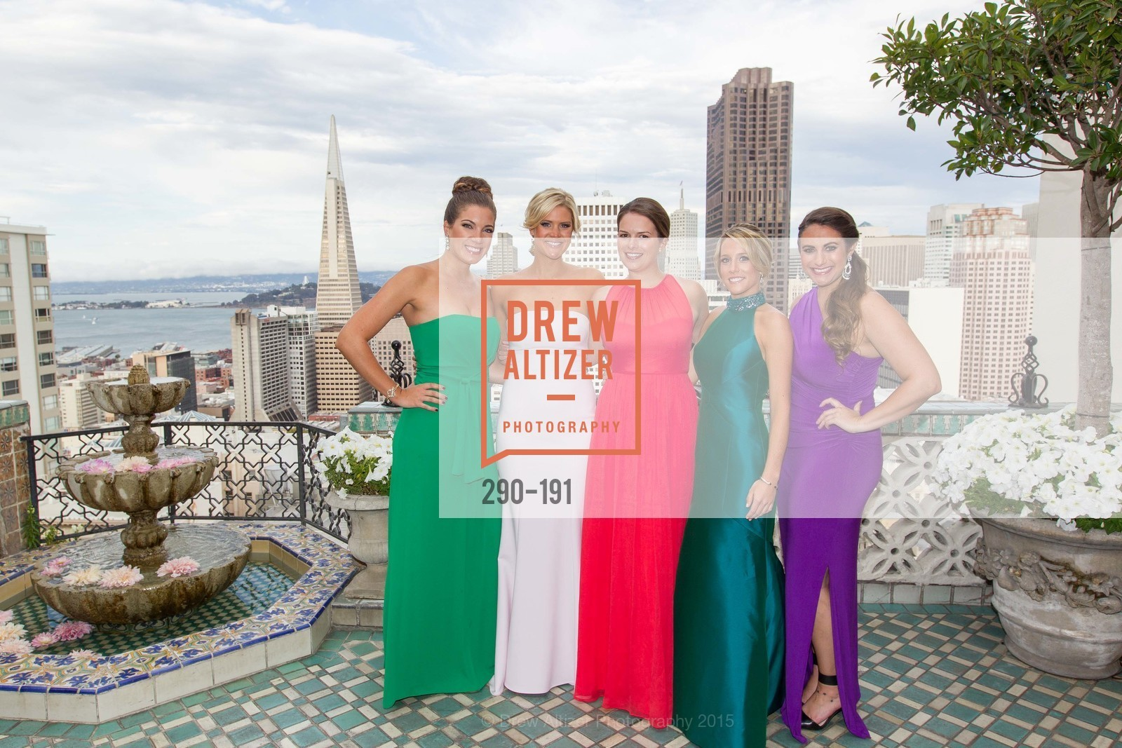 Julia Stenderup, Abigail Davis, Kate Harrison, Anne Molds, Kathleen Roberts, Spinsters of San Francisco Annual Ball 2015, Penthouse at the Fairmont San Francisco (950 Mason Street). 950 Mason Street, June 28th, 2015,Drew Altizer, Drew Altizer Photography, full-service agency, private events, San Francisco photographer, photographer california