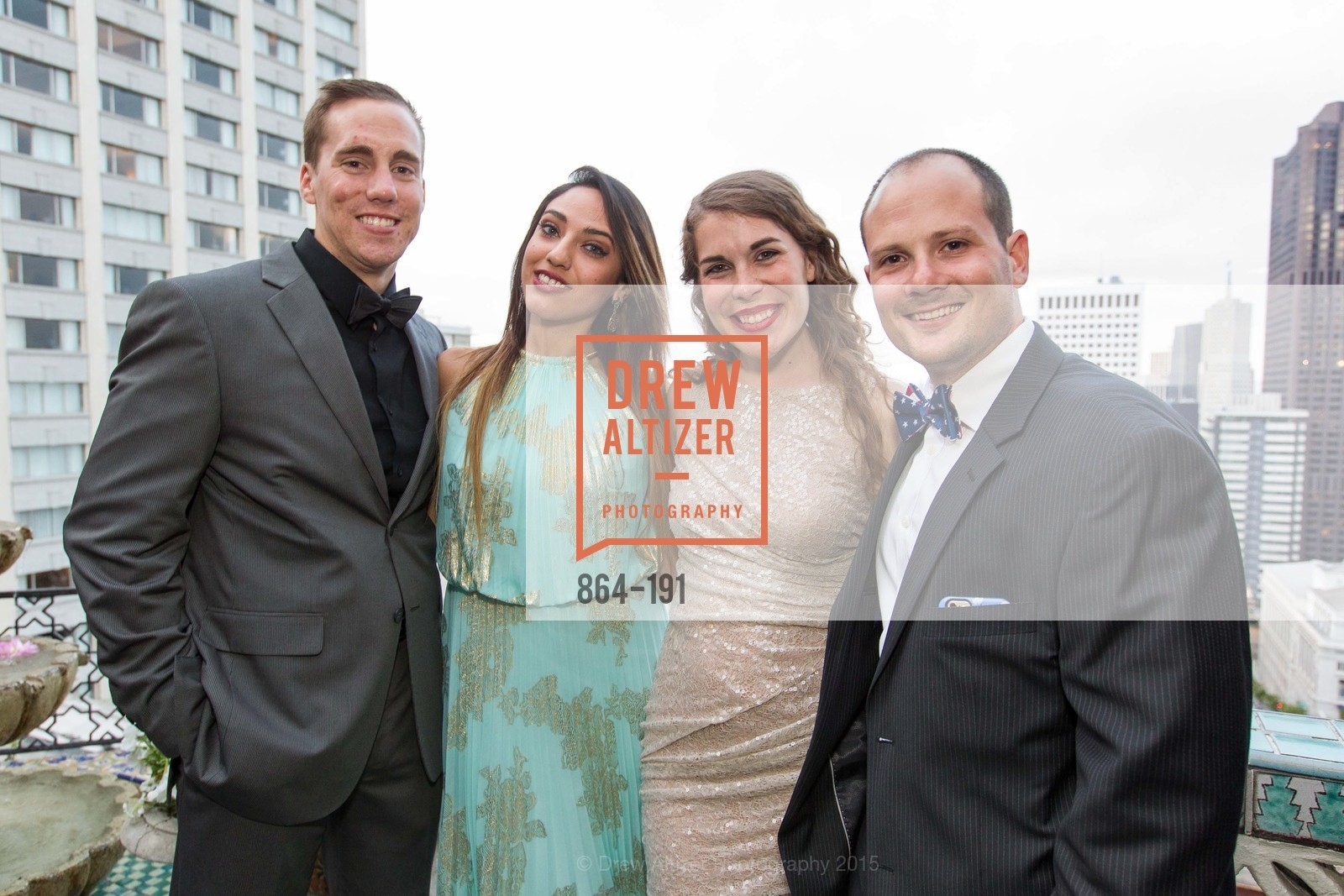 Dan Tenpas, Reem Hassani, Hannah Tenpas, Ari Goldstein, Spinsters of San Francisco Annual Ball 2015, Penthouse at the Fairmont San Francisco (950 Mason Street). 950 Mason Street, June 28th, 2015,Drew Altizer, Drew Altizer Photography, full-service agency, private events, San Francisco photographer, photographer california