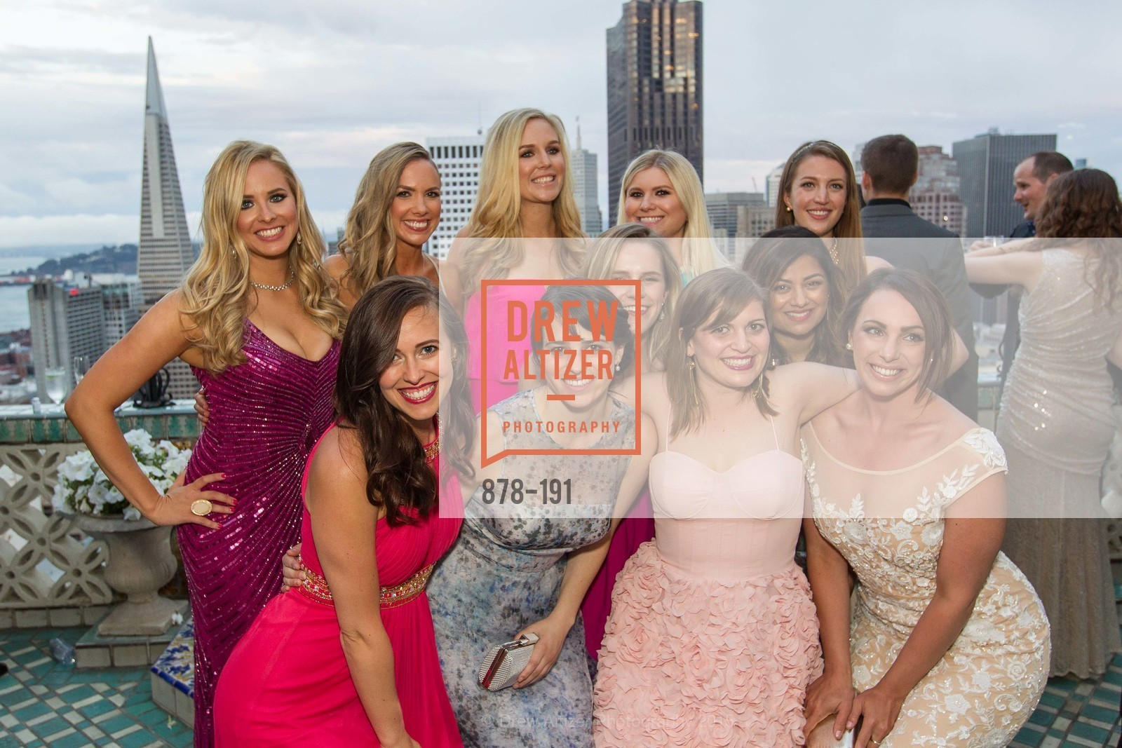 Elizabeth Sgarrella, Michelle Bertino, Bailey Douglass, Cambria Steel, Summer McCormick, Jonna Constantine, Priya Saiprasad, Julia Allyn, Genevieve Haight, Spinsters of San Francisco Annual Ball 2015, Penthouse at the Fairmont San Francisco (950 Mason Street). 950 Mason Street, June 28th, 2015,Drew Altizer, Drew Altizer Photography, full-service event agency, private events, San Francisco photographer, photographer California