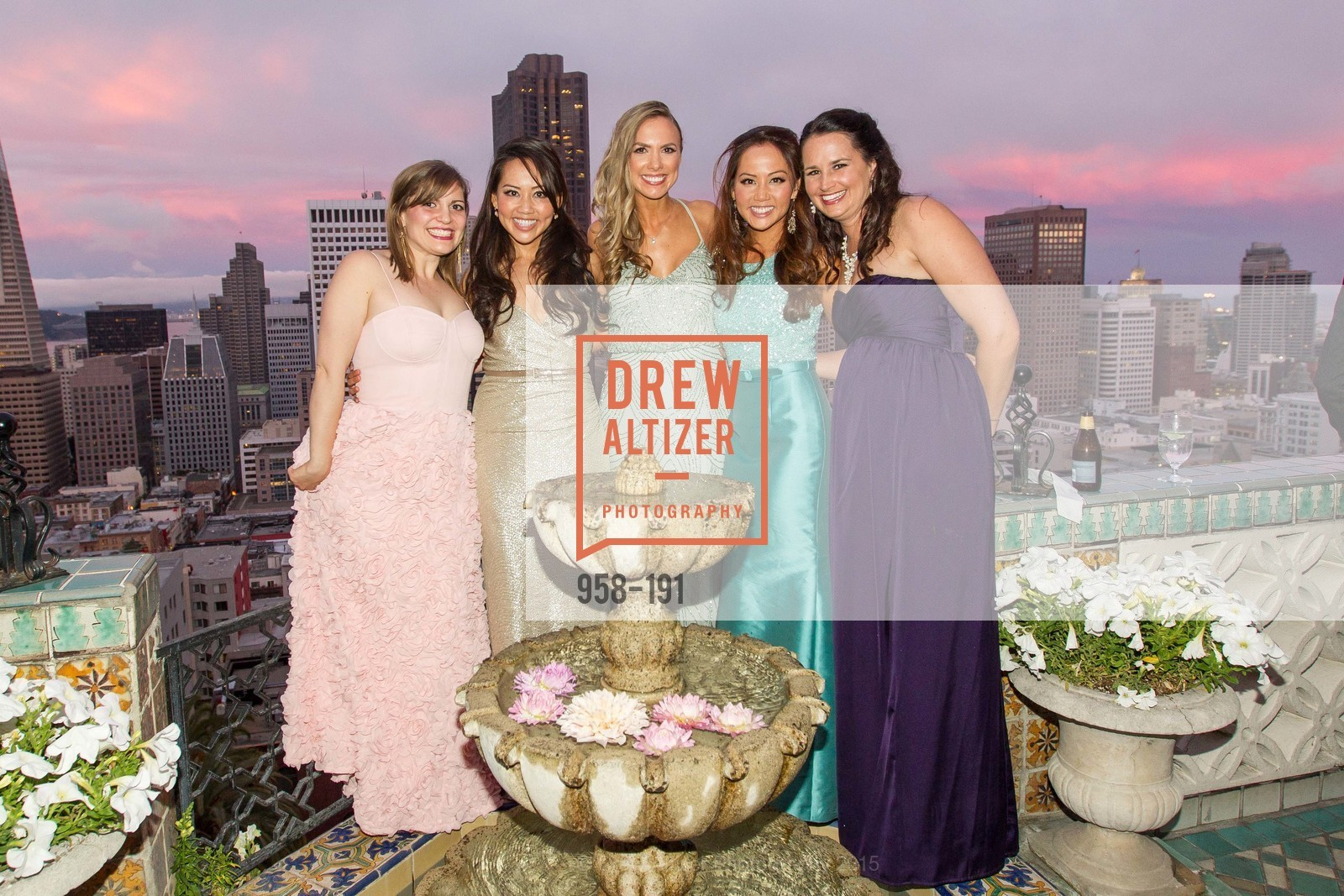 Jonna Constantine, Jessica Leung, Michelle Bertino, Emily Leung, Kristen Leep, Spinsters of San Francisco Annual Ball 2015, Penthouse at the Fairmont San Francisco (950 Mason Street). 950 Mason Street, June 28th, 2015,Drew Altizer, Drew Altizer Photography, full-service agency, private events, San Francisco photographer, photographer california