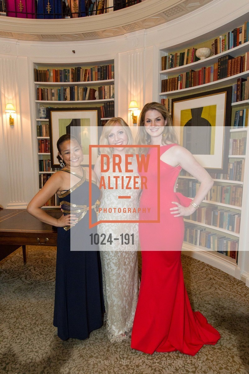 Kelly Leung, Mary Devon Ditzen, Alexandra Shepherd, Spinsters of San Francisco Annual Ball 2015, Penthouse at the Fairmont San Francisco (950 Mason Street). 950 Mason Street, June 28th, 2015