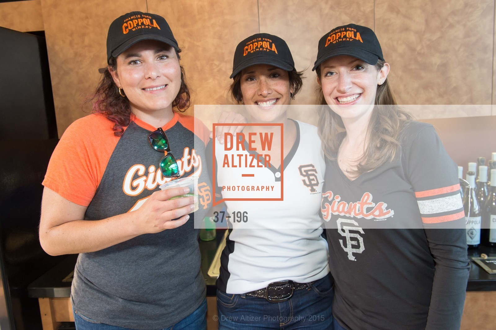 Natalie Dale, Lise Asimont, Meghan Rech, Francis Ford Coppola Winery Presents Diamond on the Diamond, San Francisco Giants AT&T Park, Virgin America Loft. 24 Willie Mays Plaza, July 10th, 2015