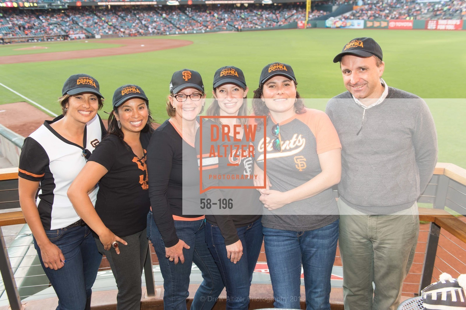 Lise Asimont, Tondi Bolten, Meghan Rech, Natalie Dale, Francois Tordesse, Francis Ford Coppola Winery Presents Diamond on the Diamond, San Francisco Giants AT&T Park, Virgin America Loft. 24 Willie Mays Plaza, July 10th, 2015,Drew Altizer, Drew Altizer Photography, full-service agency, private events, San Francisco photographer, photographer california