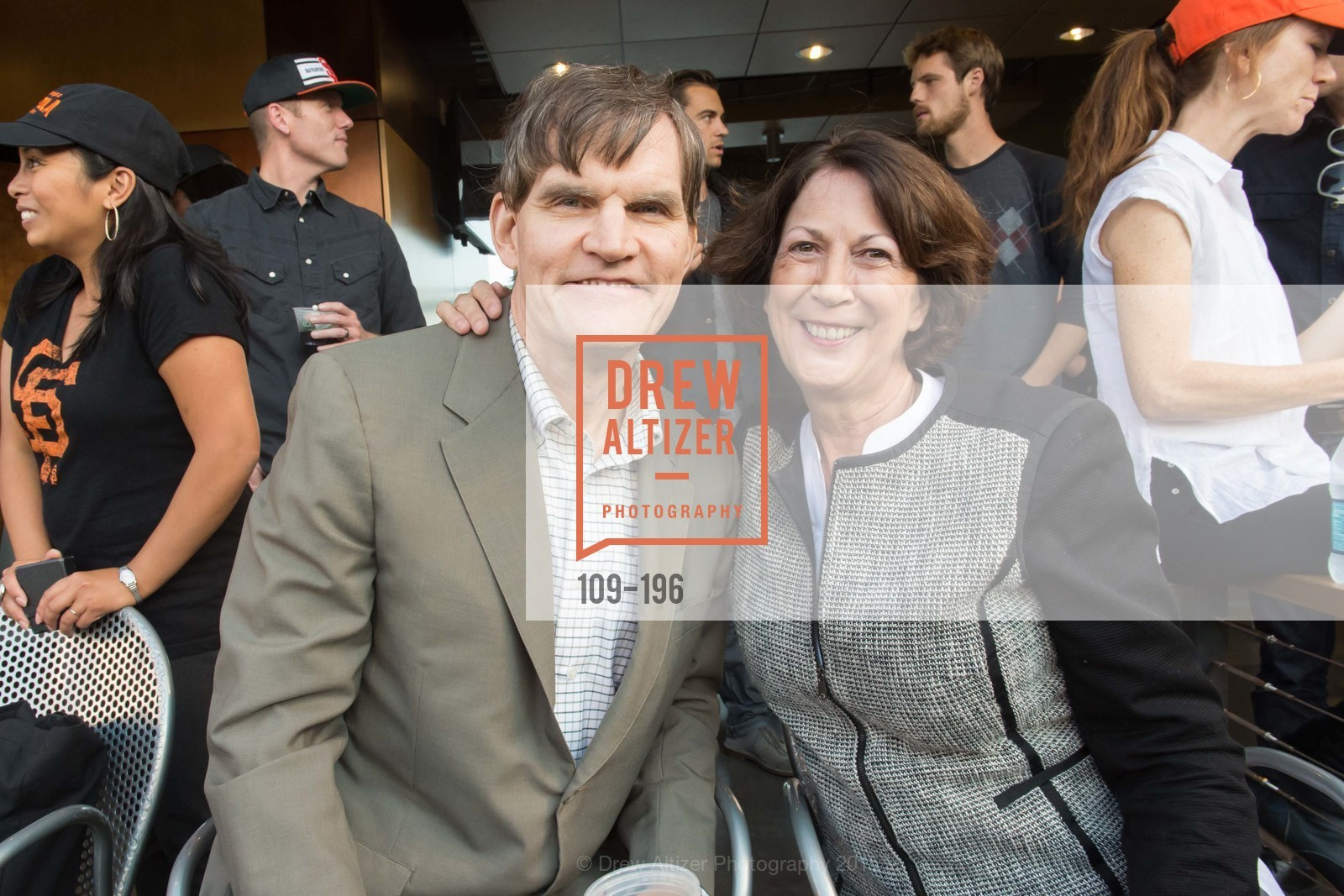 Ed Walsh, Ruth Carlson, Francis Ford Coppola Winery Presents Diamond on the Diamond, San Francisco Giants AT&T Park, Virgin America Loft. 24 Willie Mays Plaza, July 10th, 2015,Drew Altizer, Drew Altizer Photography, full-service agency, private events, San Francisco photographer, photographer california