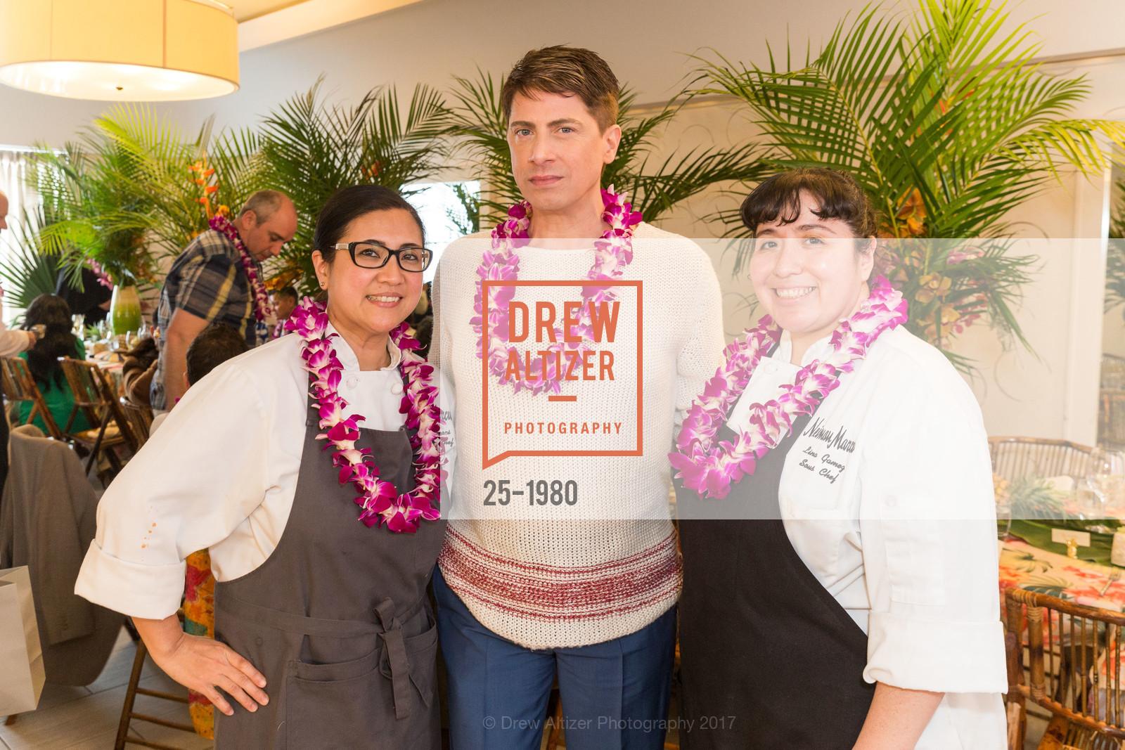 Ruby Oliveros, Aubrey Brewster, Lina Gomez, Aubrey Brewster's Purely Paradise Birthday Luncheon 2017, Neiman Marcus. 150 Stockton St  SF, California 94108, March 24th, 2017