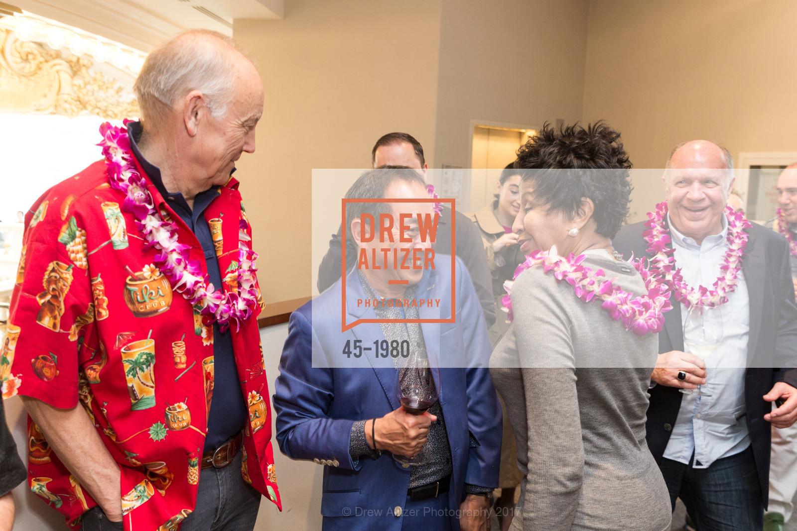 Jan Hedquist, Ray Manzano, Karen Varnado, Aubrey Brewster's Purely Paradise Birthday Luncheon 2017, Neiman Marcus. 150 Stockton St  SF, California 94108, March 24th, 2017