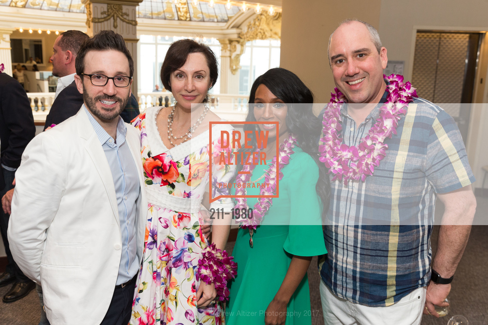 Kyle McMillen, Clara Shayevich, Pernella Sommerville, Gil Padia, Aubrey Brewster's Purely Paradise Birthday Luncheon 2017, Neiman Marcus. 150 Stockton St  SF, California 94108, March 24th, 2017