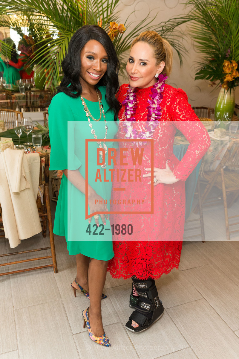 Pernella Sommerville, Brenda Zarate, Aubrey Brewster's Purely Paradise Birthday Luncheon 2017, Neiman Marcus. 150 Stockton St  SF, California 94108, March 24th, 2017