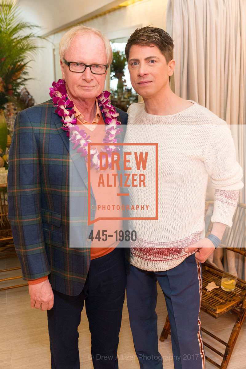Ed Winger, Aubrey Brewster, Aubrey Brewster's Purely Paradise Birthday Luncheon 2017, Neiman Marcus. 150 Stockton St  SF, California 94108, March 24th, 2017