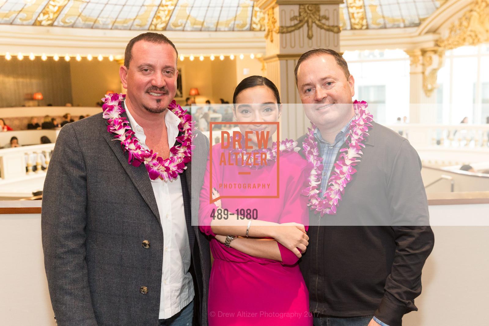 Gene Crystal, Olga Dubrovsky, Edward Dubrovsky, Aubrey Brewster's Purely Paradise Birthday Luncheon 2017, Neiman Marcus. 150 Stockton St  SF, California 94108, March 24th, 2017