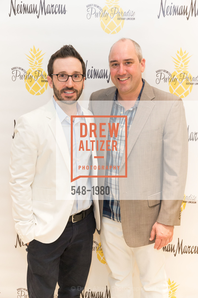 Kyle McMillen, Gil Padia, Aubrey Brewster's Purely Paradise Birthday Luncheon 2017, Neiman Marcus. 150 Stockton St  SF, California 94108, March 24th, 2017