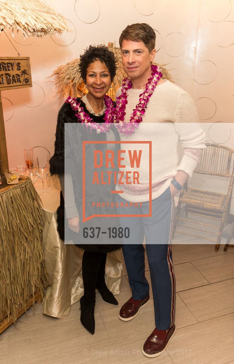 Karen Varnado, Aubrey Brewster, Aubrey Brewster's Purely Paradise Birthday Luncheon 2017, Neiman Marcus. 150 Stockton St  SF, California 94108, March 24th, 2017