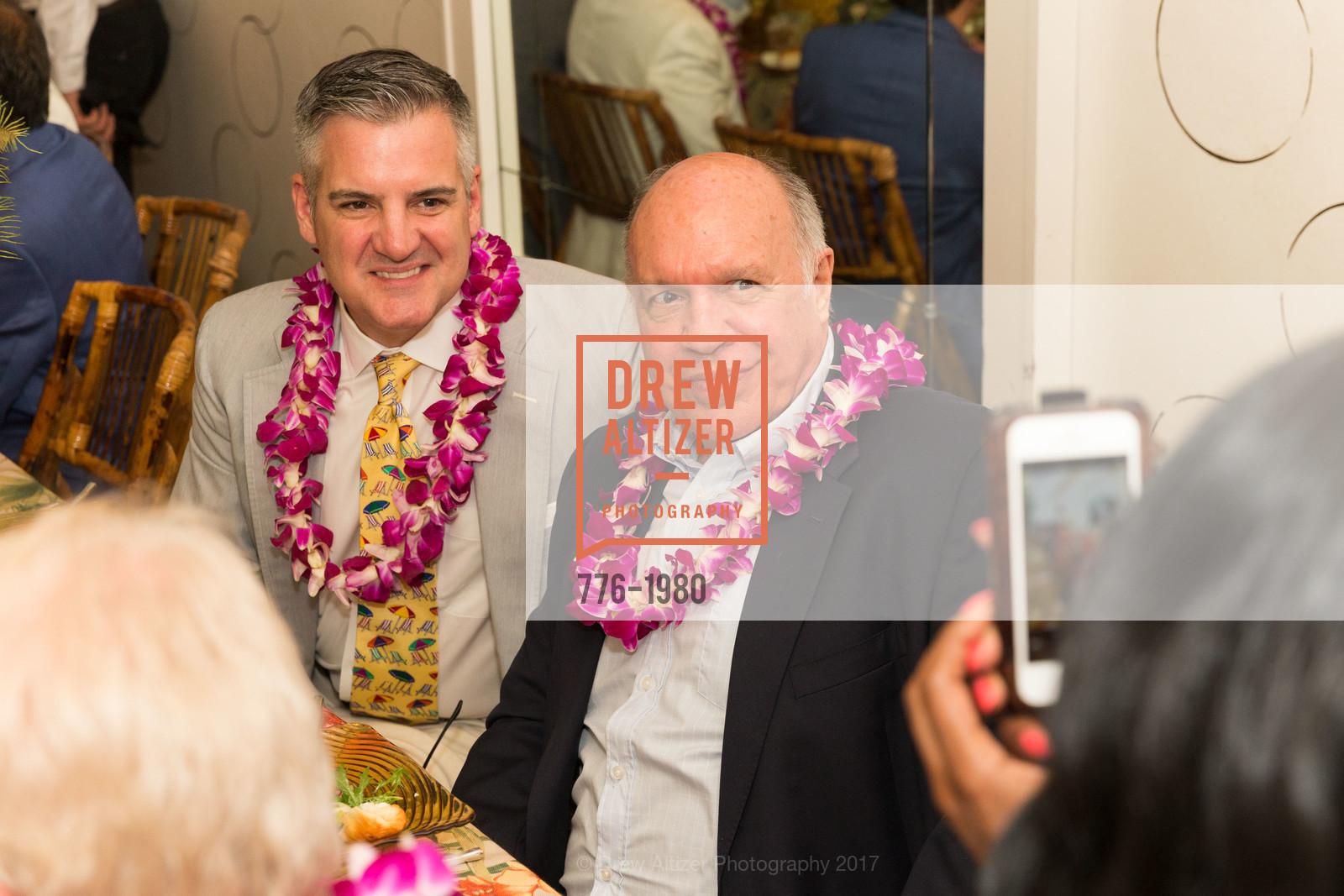 Tim Graffigna, Bill Hales, Aubrey Brewster's Purely Paradise Birthday Luncheon 2017, Neiman Marcus. 150 Stockton St  SF, California 94108, March 24th, 2017