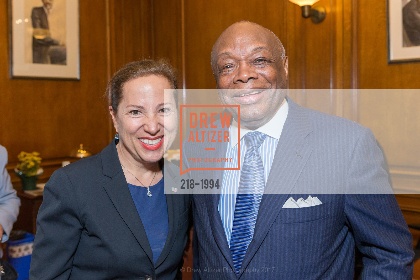Former U.S. Ambassador To Hungary And SF Port Commissioner Eleni Kounalakis, Willie Brown Jr., Greek Independence Day Official Greek Flag Raising Ceremony, City Hall. 1 Dr Carlton B Goodlett Pl, March 24th, 2017