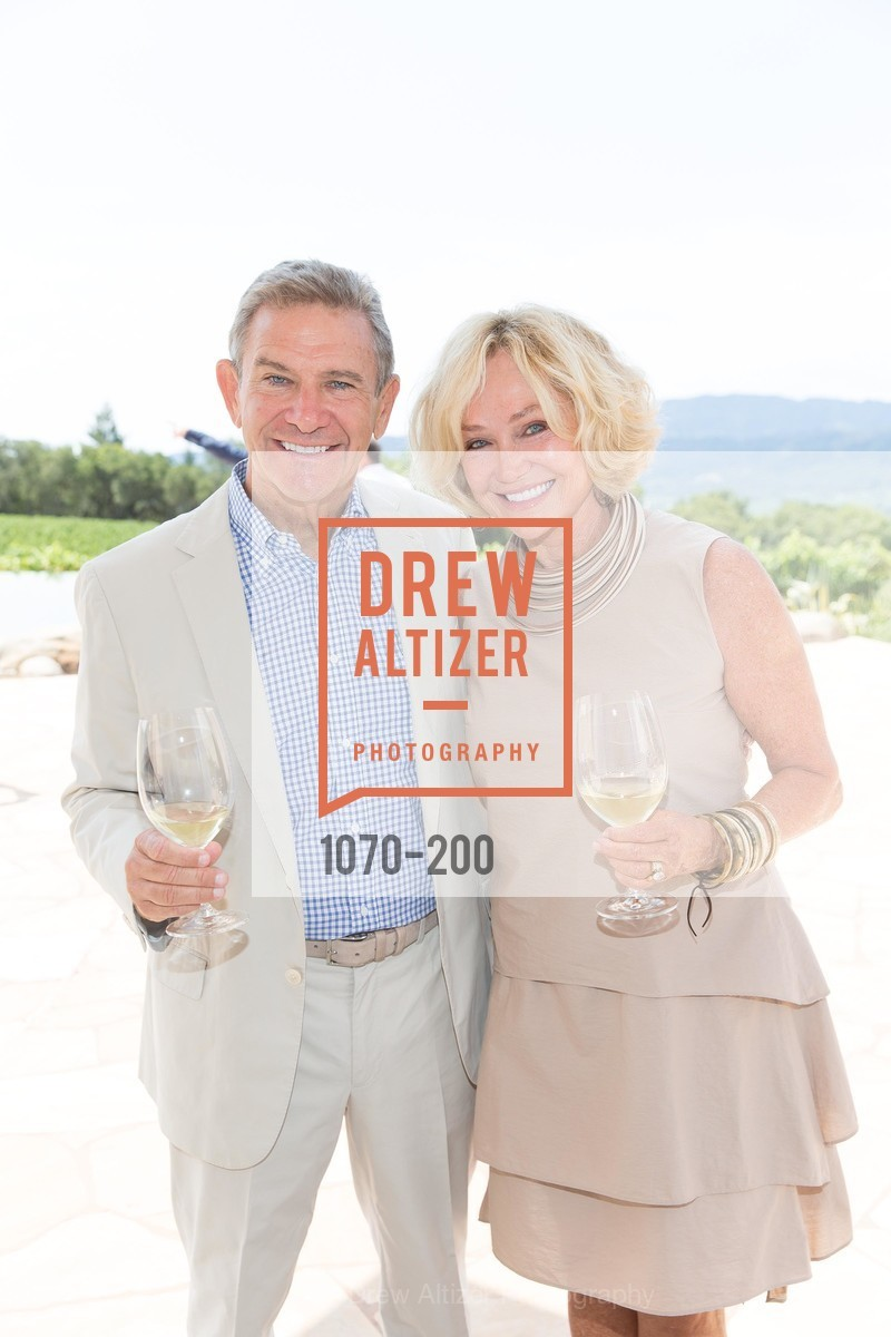 Craig Hall, Kathryn Hall, Festival del Sole Brunello Cucinelli Luncheon Hosted by Hall Wines and Neiman Marcus, P\. 56 Auberge Rd, July 19th, 2015
