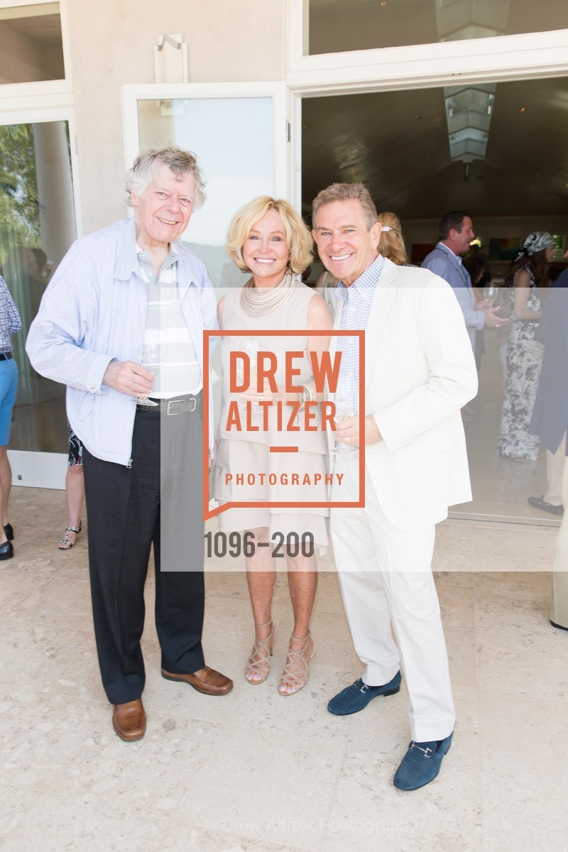 Gordon Getty, Kathryn Hall, Craig Hall, Festival del Sole Brunello Cucinelli Luncheon Hosted by Hall Wines and Neiman Marcus, P\. 56 Auberge Rd, July 19th, 2015,Drew Altizer, Drew Altizer Photography, full-service agency, private events, San Francisco photographer, photographer california