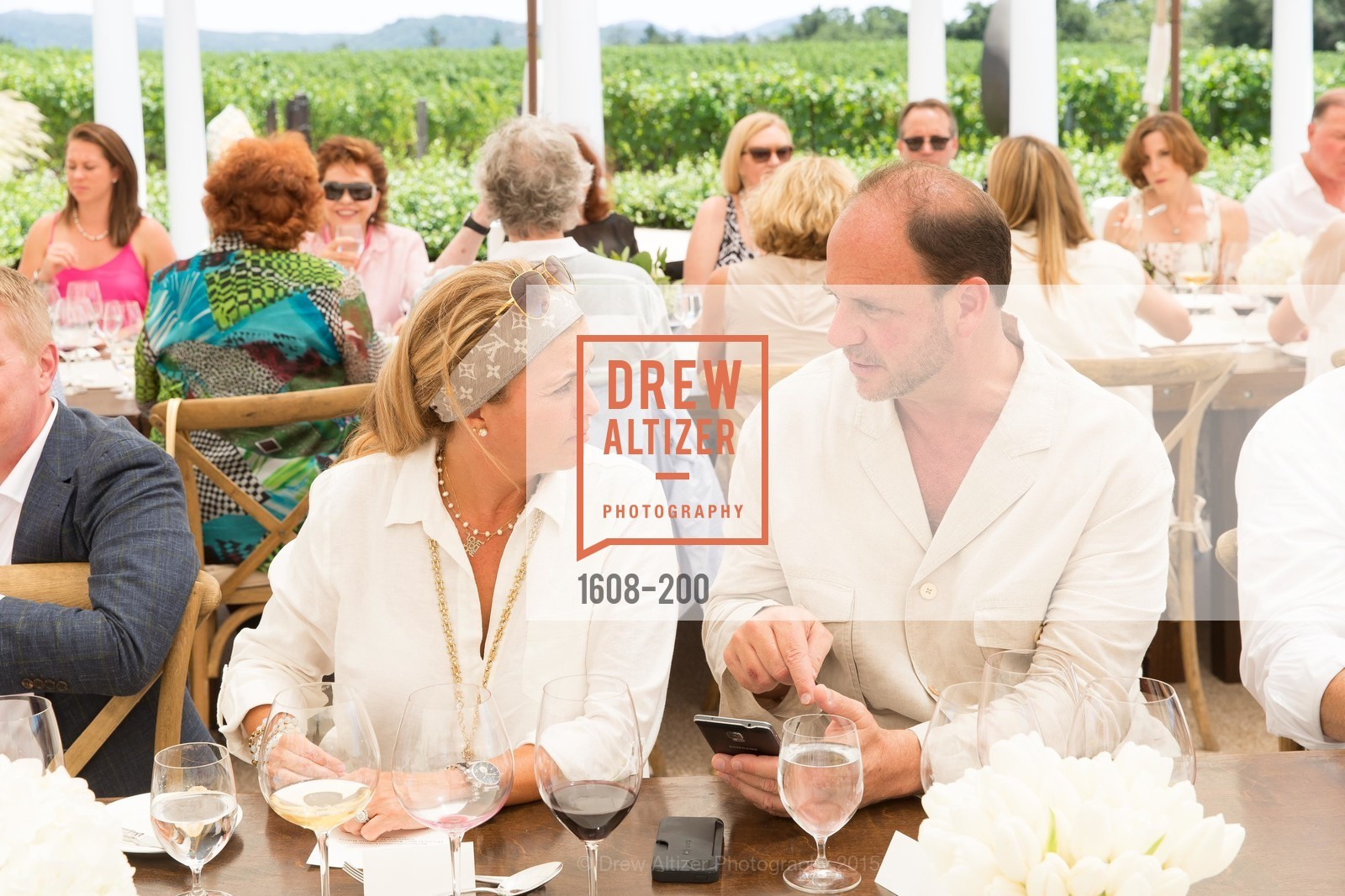 Gaby Ghorbani, Barrett Wissman, Festival del Sole Brunello Cucinelli Luncheon Hosted by Hall Wines and Neiman Marcus, P\. 56 Auberge Rd, July 19th, 2015,Drew Altizer, Drew Altizer Photography, full-service agency, private events, San Francisco photographer, photographer california