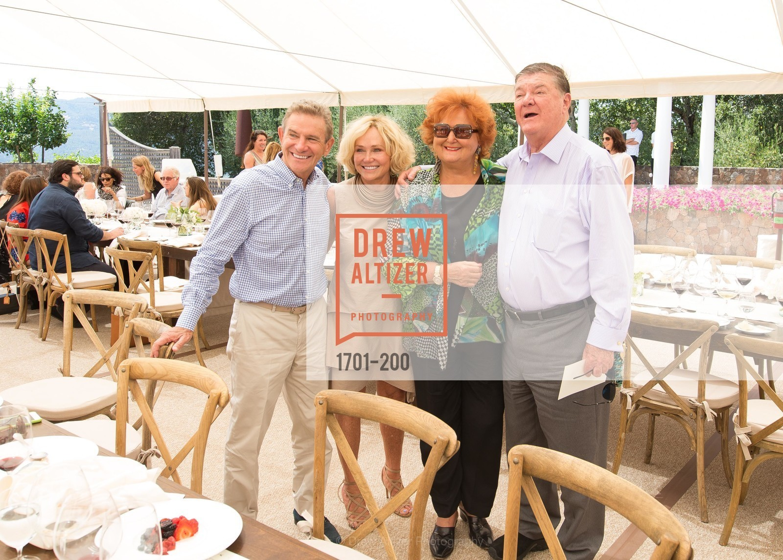 Craig Hall, Kathryn Hall, Tatiana Copeland, Gerret Copeland, Festival del Sole Brunello Cucinelli Luncheon Hosted by Hall Wines and Neiman Marcus, P\. 56 Auberge Rd, July 19th, 2015,Drew Altizer, Drew Altizer Photography, full-service agency, private events, San Francisco photographer, photographer california