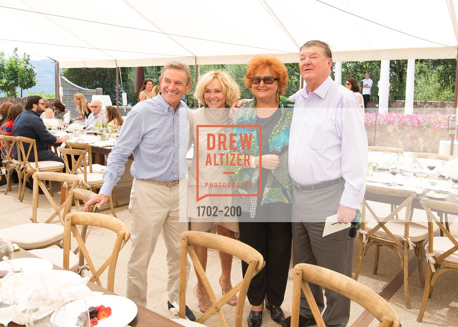 Craig Hall, Kathryn Hall, Tatiana Copeland, Gerret Copeland, Festival del Sole Brunello Cucinelli Luncheon Hosted by Hall Wines and Neiman Marcus, P\. 56 Auberge Rd, July 19th, 2015
