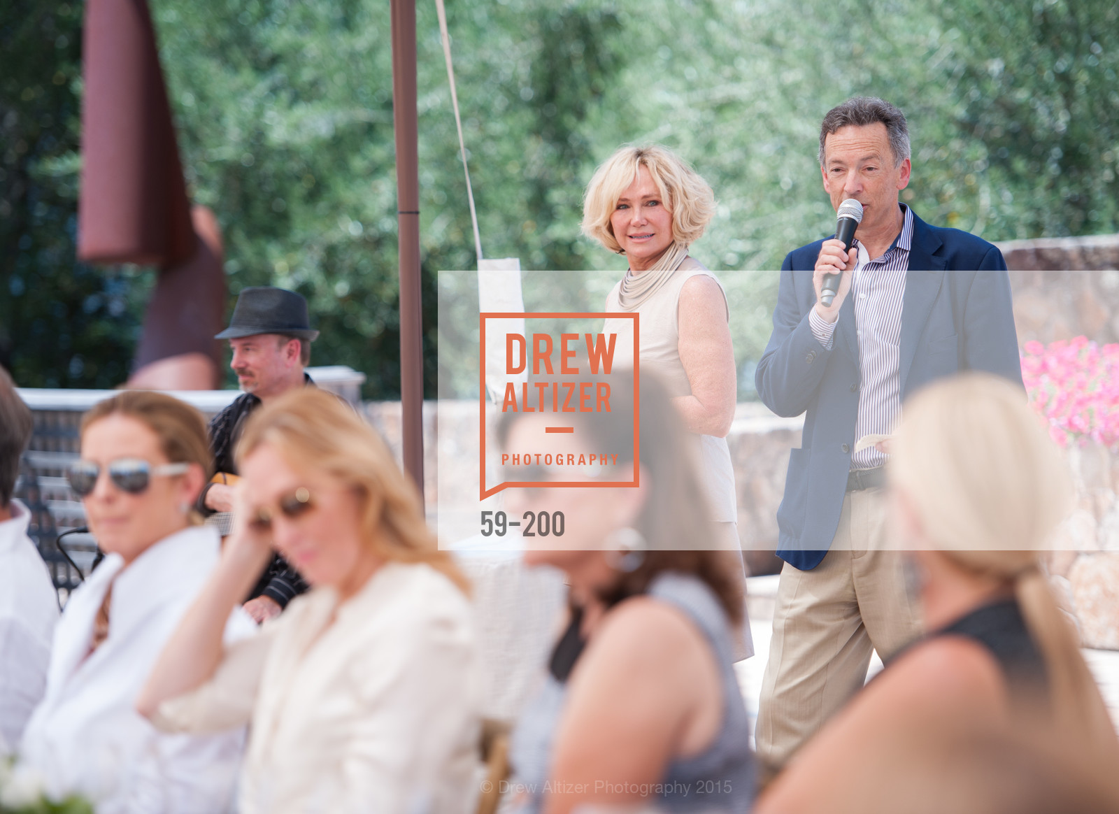 Kathryn Hall, Rick Walker, Festival del Sole Brunello Cucinelli Luncheon Hosted by Hall Wines and Neiman Marcus, P\. 56 Auberge Rd, July 19th, 2015,Drew Altizer, Drew Altizer Photography, full-service agency, private events, San Francisco photographer, photographer california