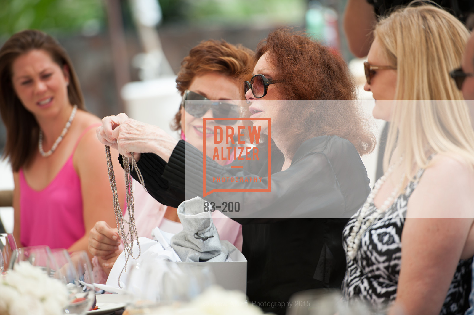 Maria Manetti Shrem, Ann Getty, Festival del Sole Brunello Cucinelli Luncheon Hosted by Hall Wines and Neiman Marcus, P\. 56 Auberge Rd, July 19th, 2015,Drew Altizer, Drew Altizer Photography, full-service agency, private events, San Francisco photographer, photographer california
