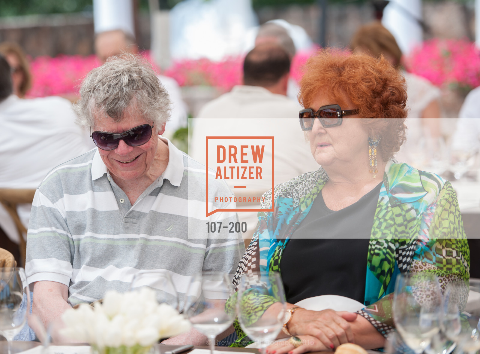 Gordon Getty, Tatiana Copeland, Festival del Sole Brunello Cucinelli Luncheon Hosted by Hall Wines and Neiman Marcus, P\. 56 Auberge Rd, July 19th, 2015,Drew Altizer, Drew Altizer Photography, full-service agency, private events, San Francisco photographer, photographer california