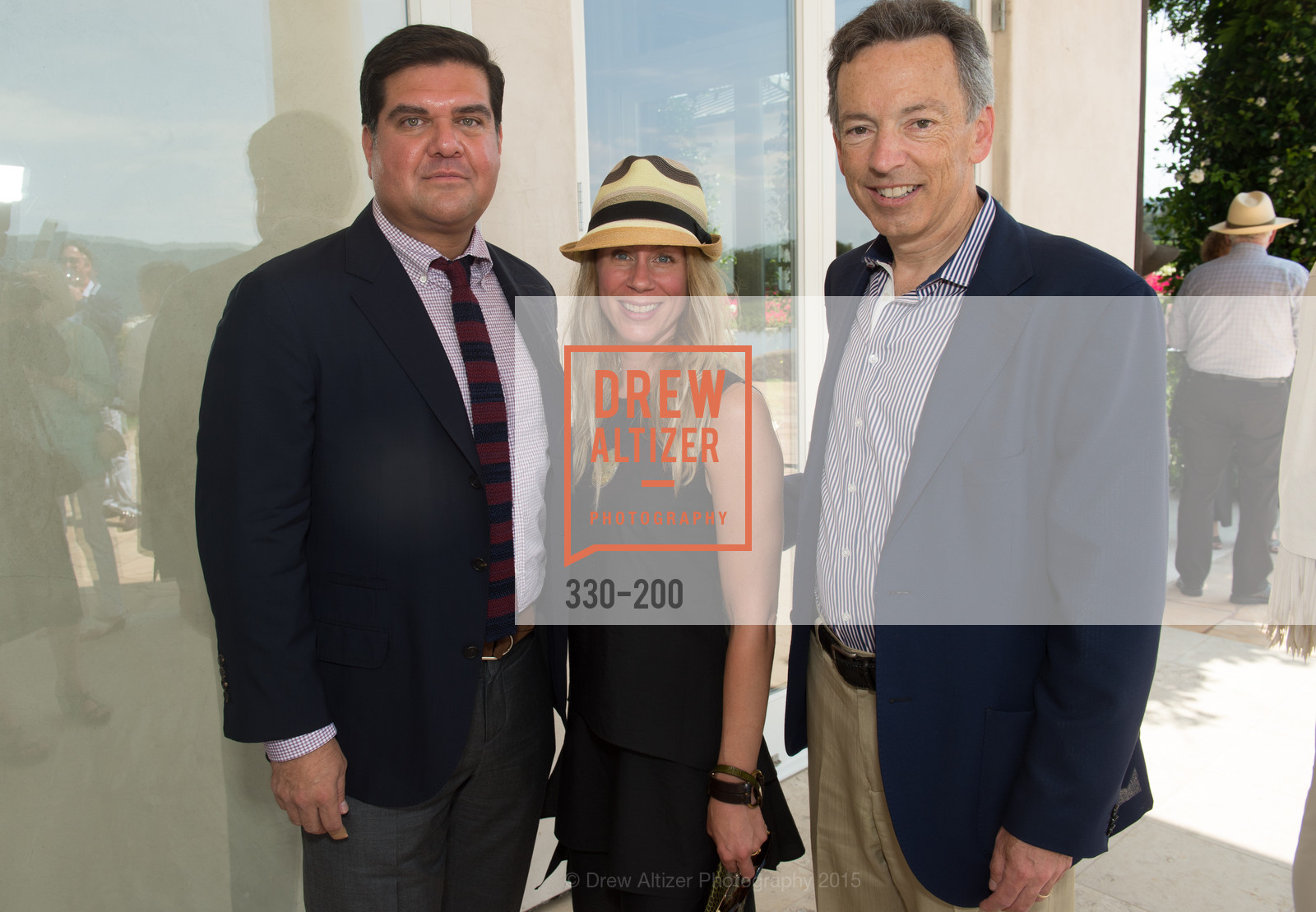 Eric Rodriguez, Noelle von Tesmar, Rick Walker, Festival del Sole Brunello Cucinelli Luncheon Hosted by Hall Wines and Neiman Marcus, P\. 56 Auberge Rd, July 19th, 2015,Drew Altizer, Drew Altizer Photography, full-service agency, private events, San Francisco photographer, photographer california