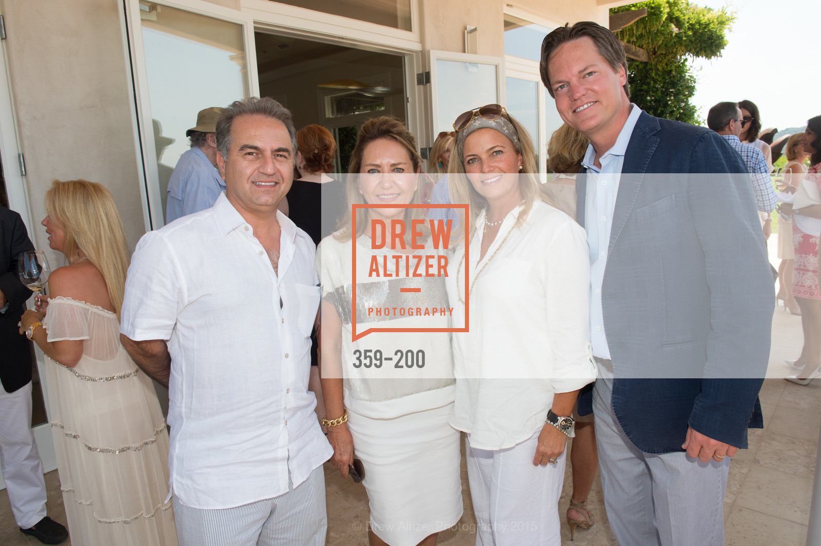Mazi Ghorbani, Shahpar Khaledi, Gaby Ghorbani, Stephen Oetgen, Festival del Sole Brunello Cucinelli Luncheon Hosted by Hall Wines and Neiman Marcus, P\. 56 Auberge Rd, July 19th, 2015,Drew Altizer, Drew Altizer Photography, full-service agency, private events, San Francisco photographer, photographer california