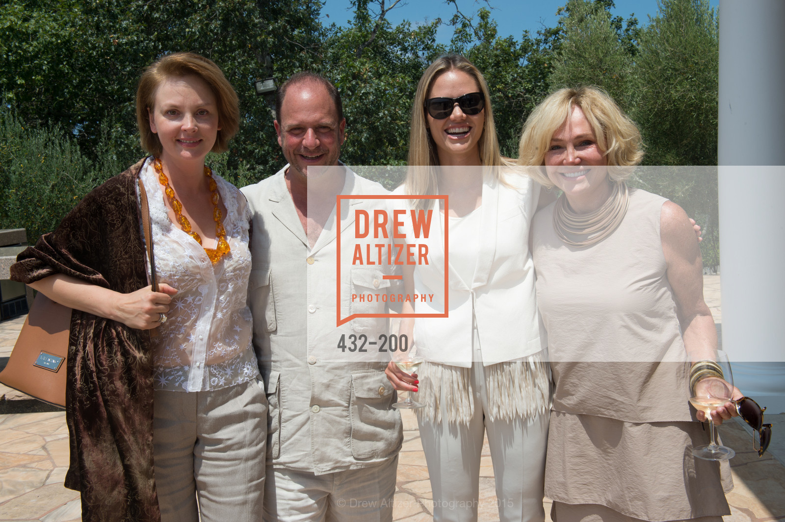Nina Kotova, Barrett Wissman, Kathryn Hall, Festival del Sole Brunello Cucinelli Luncheon Hosted by Hall Wines and Neiman Marcus, P\. 56 Auberge Rd, July 19th, 2015,Drew Altizer, Drew Altizer Photography, full-service event agency, private events, San Francisco photographer, photographer California