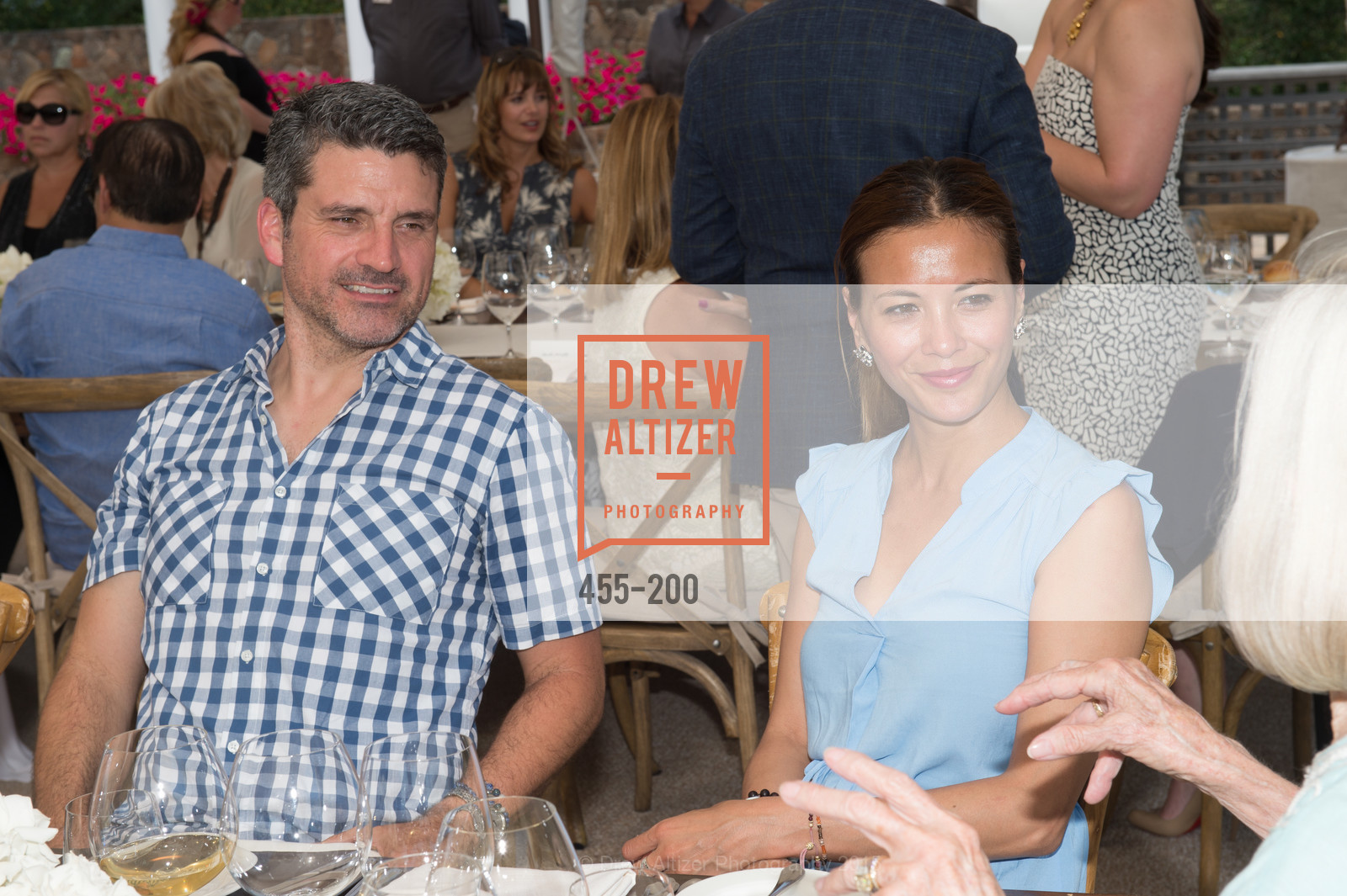 Trevor Neilson, Evelyn Weber, Festival del Sole Brunello Cucinelli Luncheon Hosted by Hall Wines and Neiman Marcus, P\. 56 Auberge Rd, July 19th, 2015,Drew Altizer, Drew Altizer Photography, full-service agency, private events, San Francisco photographer, photographer california
