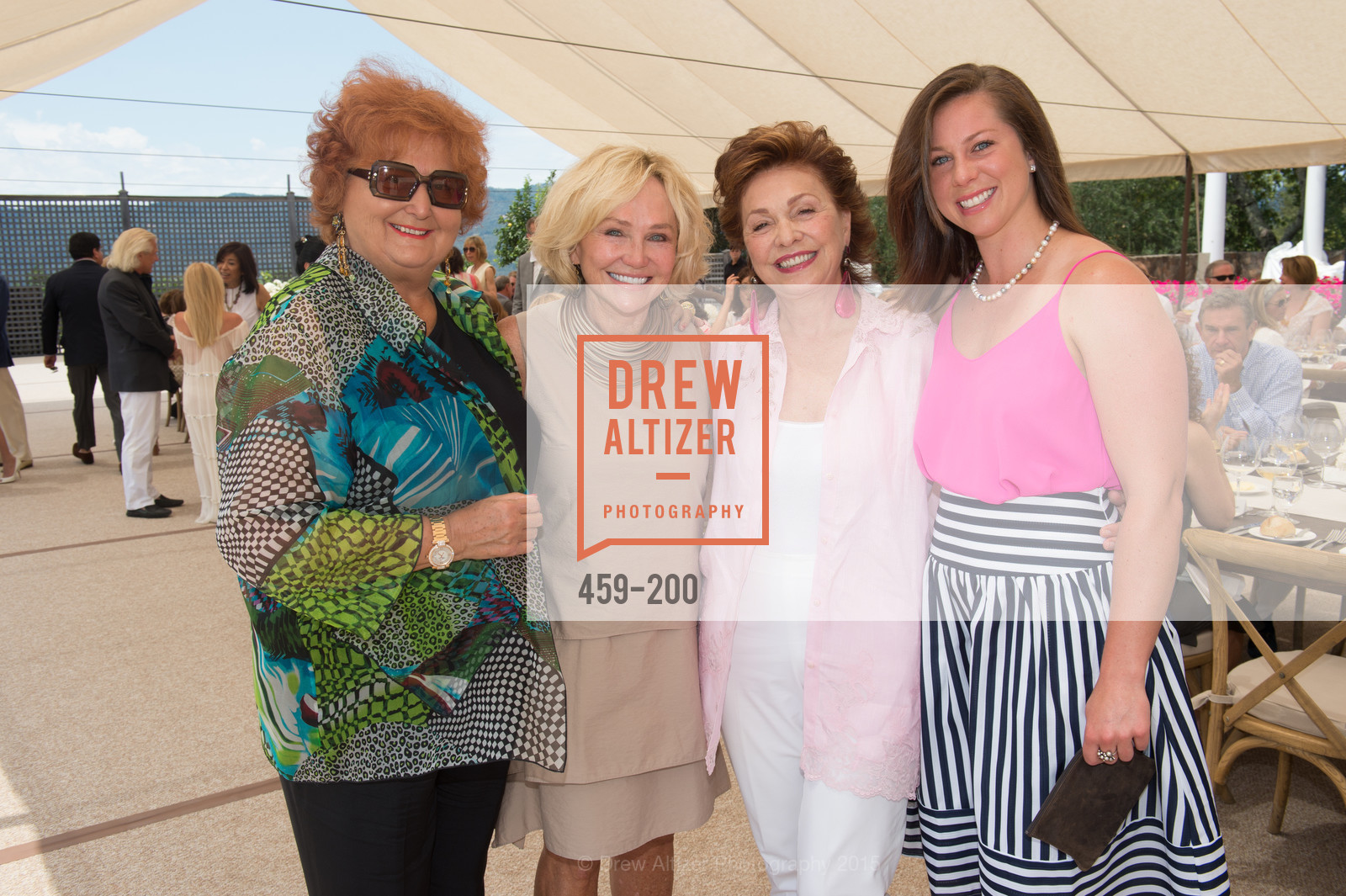 Tatiana Copeland, Kathryn Hall, Maria Manetti Shrem, Amanda Harlan, Festival del Sole Brunello Cucinelli Luncheon Hosted by Hall Wines and Neiman Marcus, P\. 56 Auberge Rd, July 19th, 2015,Drew Altizer, Drew Altizer Photography, full-service agency, private events, San Francisco photographer, photographer california