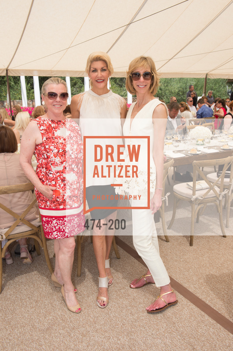 Jeanne Lawrence, Karen Caldwell, Nancy Kukacka, Festival del Sole Brunello Cucinelli Luncheon Hosted by Hall Wines and Neiman Marcus, P\. 56 Auberge Rd, July 19th, 2015,Drew Altizer, Drew Altizer Photography, full-service agency, private events, San Francisco photographer, photographer california