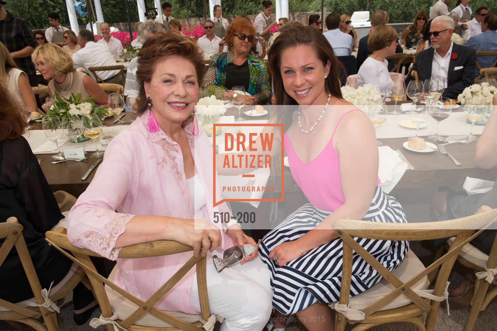 Maria Manetti Shrem, Amanda Harlan, Festival del Sole Brunello Cucinelli Luncheon Hosted by Hall Wines and Neiman Marcus, P\. 56 Auberge Rd, July 19th, 2015,Drew Altizer, Drew Altizer Photography, full-service agency, private events, San Francisco photographer, photographer california
