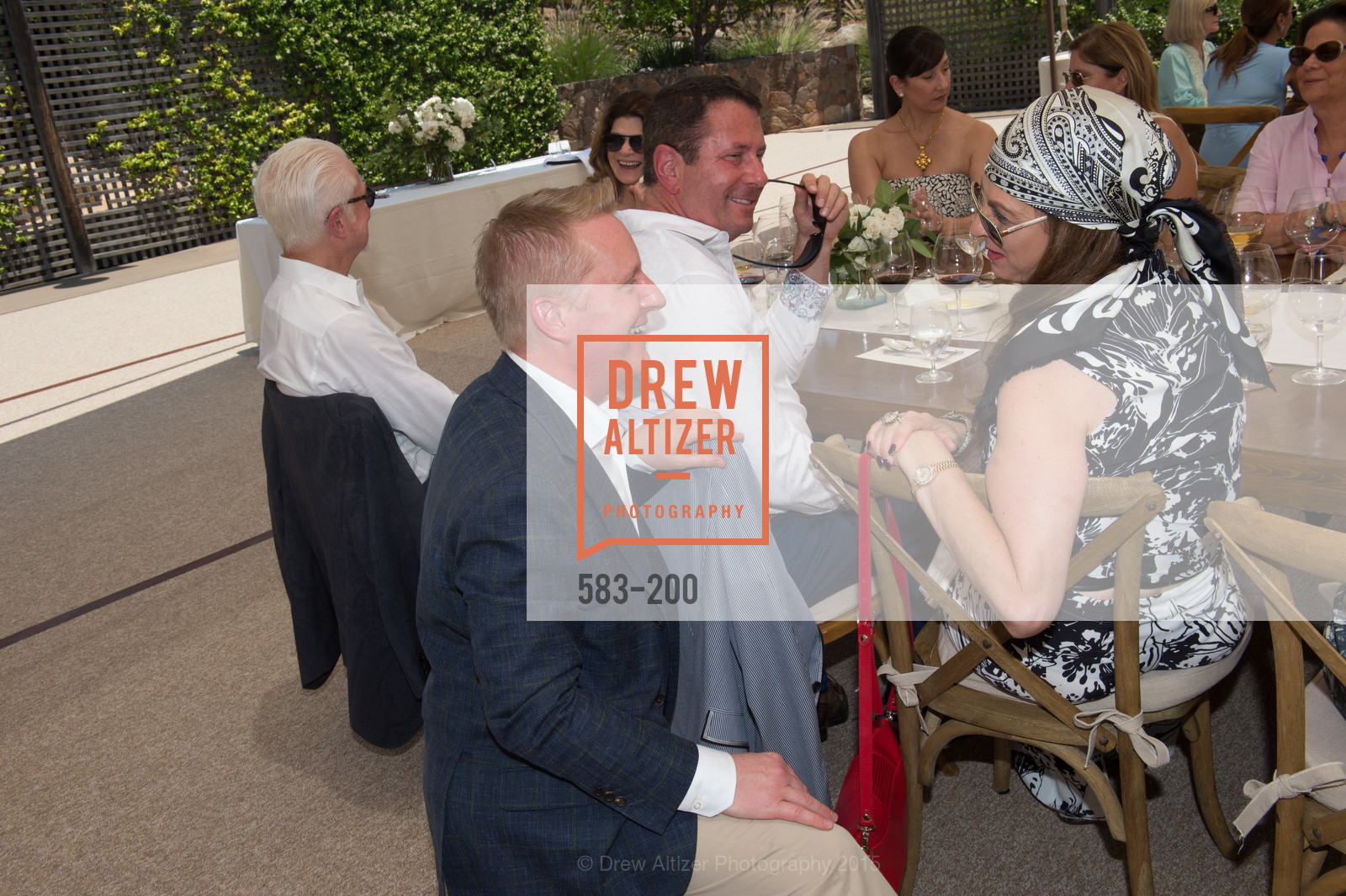 Jamie Broadhurst, Nancy Wertheim, Festival del Sole Brunello Cucinelli Luncheon Hosted by Hall Wines and Neiman Marcus, P\. 56 Auberge Rd, July 19th, 2015,Drew Altizer, Drew Altizer Photography, full-service agency, private events, San Francisco photographer, photographer california