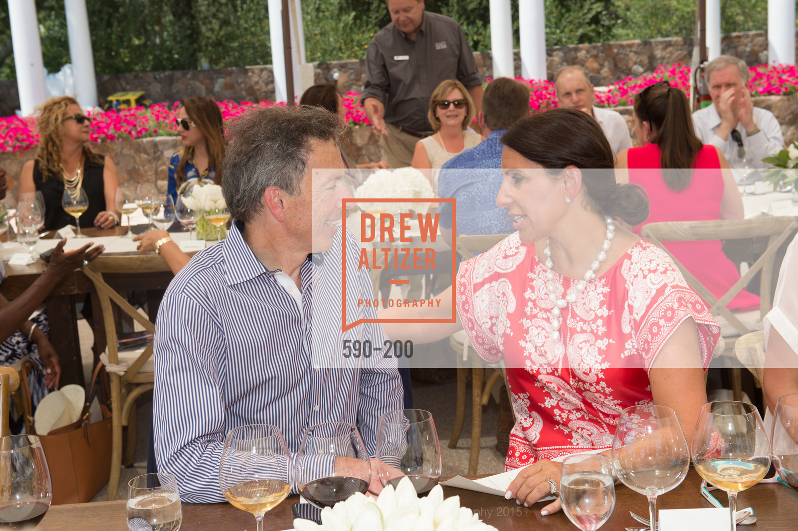 Rick Walker, Lisa Grotts, Festival del Sole Brunello Cucinelli Luncheon Hosted by Hall Wines and Neiman Marcus, P\. 56 Auberge Rd, July 19th, 2015,Drew Altizer, Drew Altizer Photography, full-service agency, private events, San Francisco photographer, photographer california