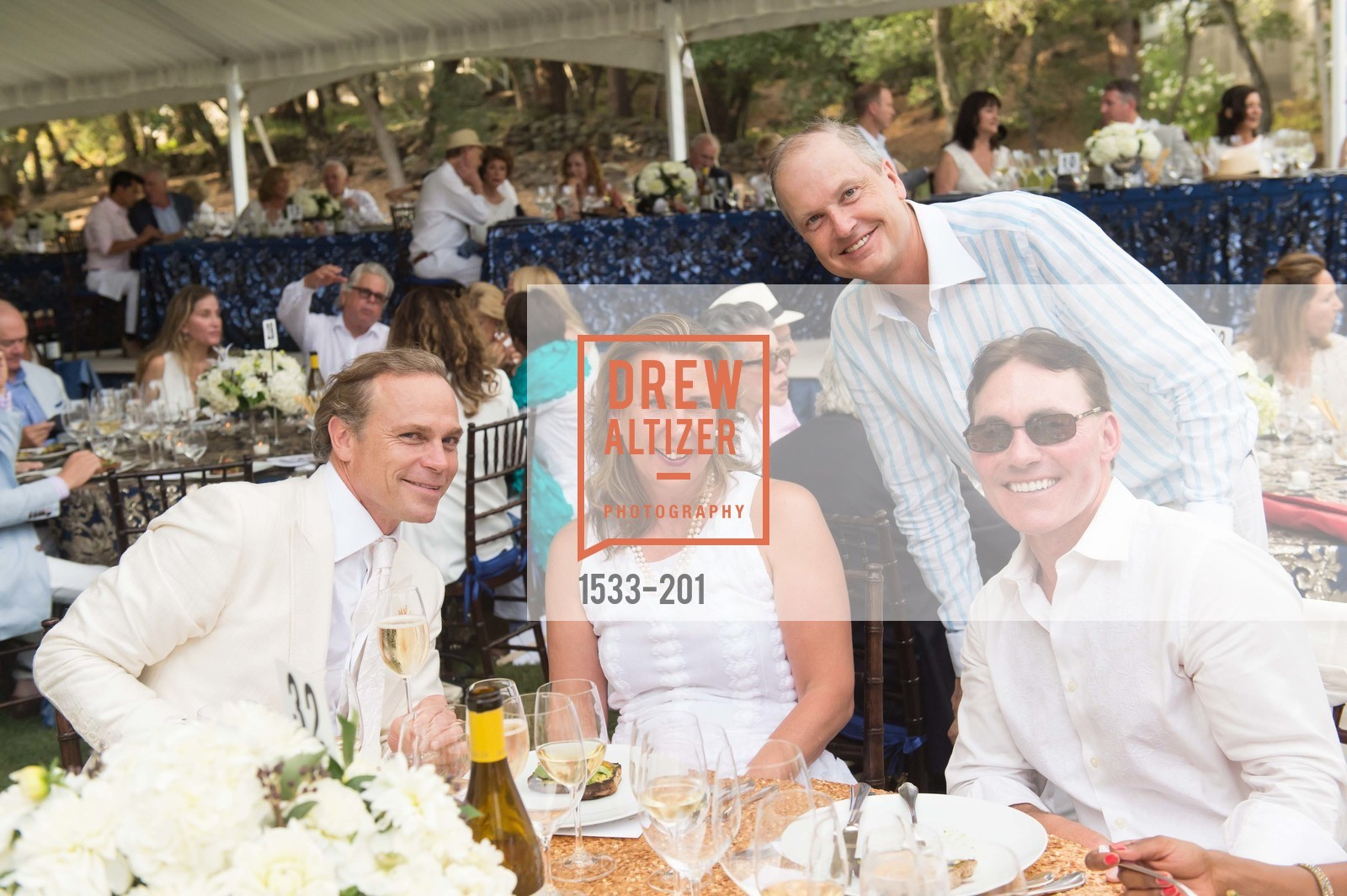 Jean-Charles Boisset, Gina Gallo, Steven Stull, Festival del Sole Annual Gala at Meadowood Napa Valley, Meadowood Napa Valley. 900 Meadowood Ln, July 19th, 2015,Drew Altizer, Drew Altizer Photography, full-service agency, private events, San Francisco photographer, photographer california