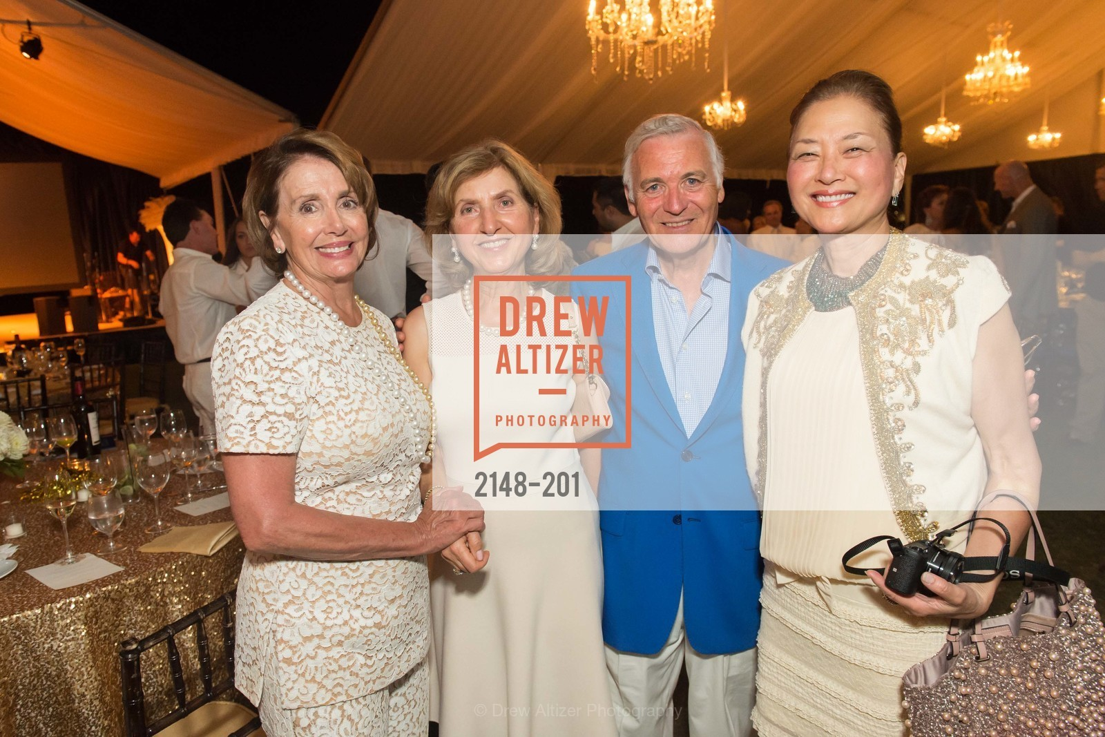 Nancy Pelosi, Rita Castellucci, Antonio Castellucci, Olivia Decker, Festival del Sole Annual Gala at Meadowood Napa Valley, Meadowood Napa Valley. 900 Meadowood Ln, July 19th, 2015,Drew Altizer, Drew Altizer Photography, full-service agency, private events, San Francisco photographer, photographer california