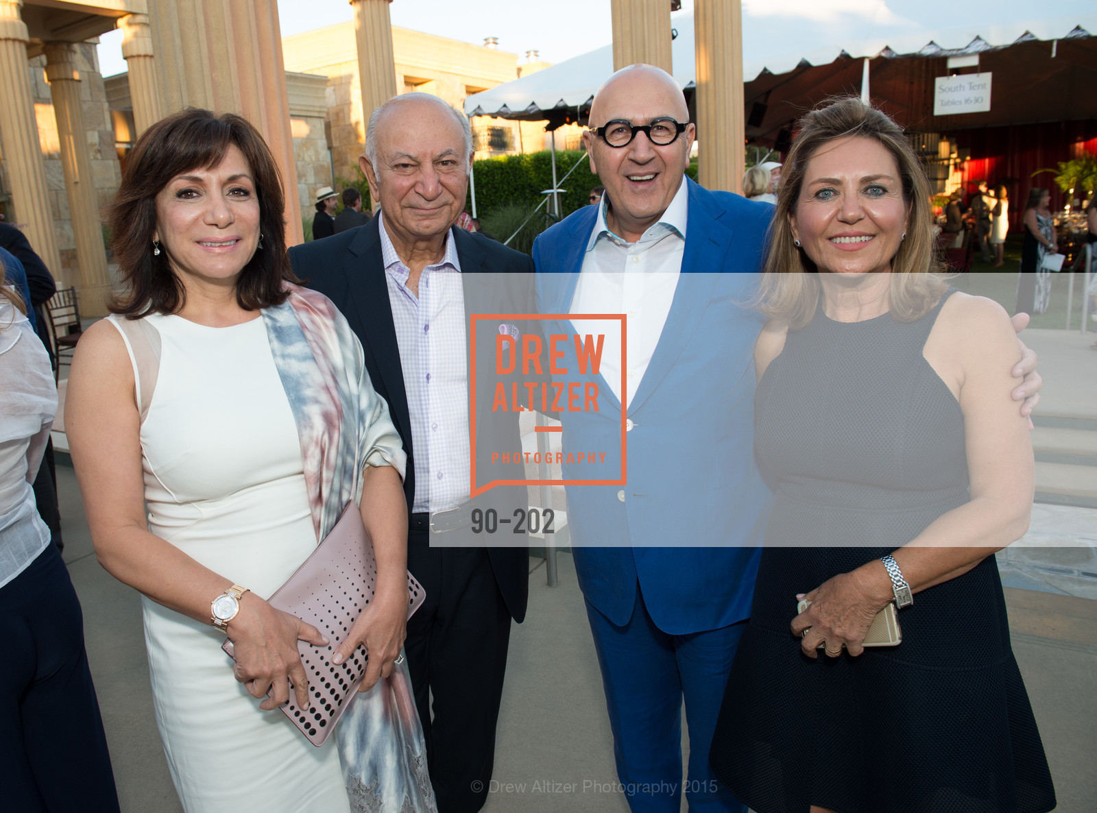 Katy Saei, Darioush Khaledi, Michael Saei, Shahpar Khaledi, Festival del Sole Patron Dinner at Darioush Winery, Darioush Winery. 4240 Silverado Trail, July 24th, 2015,Drew Altizer, Drew Altizer Photography, full-service agency, private events, San Francisco photographer, photographer california