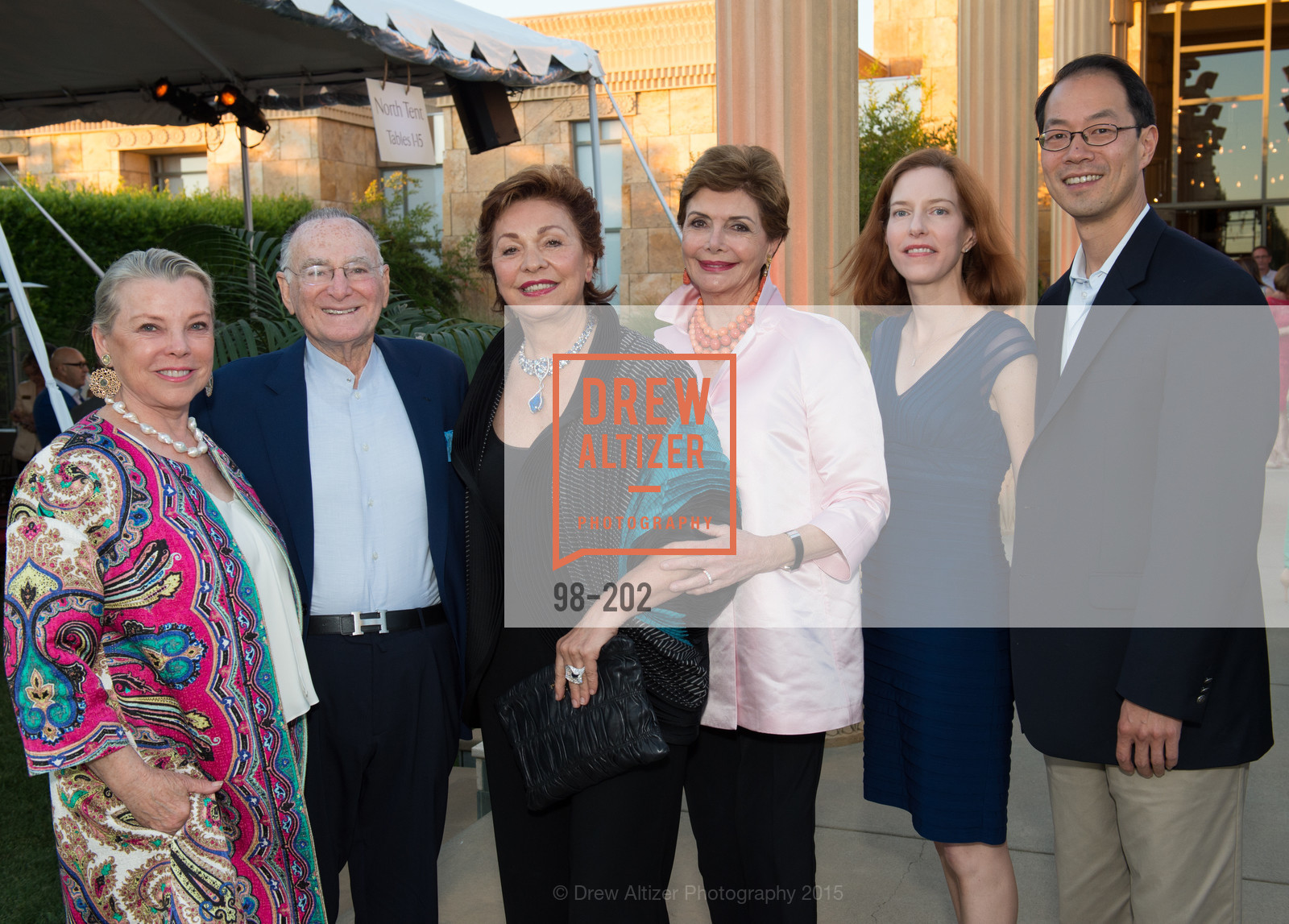 Jeanne Lawrence, Jan Shrem, Maria Manetti Shrem, Merle Mullin, Karen Chou, Dean Chou, Festival del Sole Patron Dinner at Darioush Winery, Darioush Winery. 4240 Silverado Trail, July 24th, 2015,Drew Altizer, Drew Altizer Photography, full-service agency, private events, San Francisco photographer, photographer california