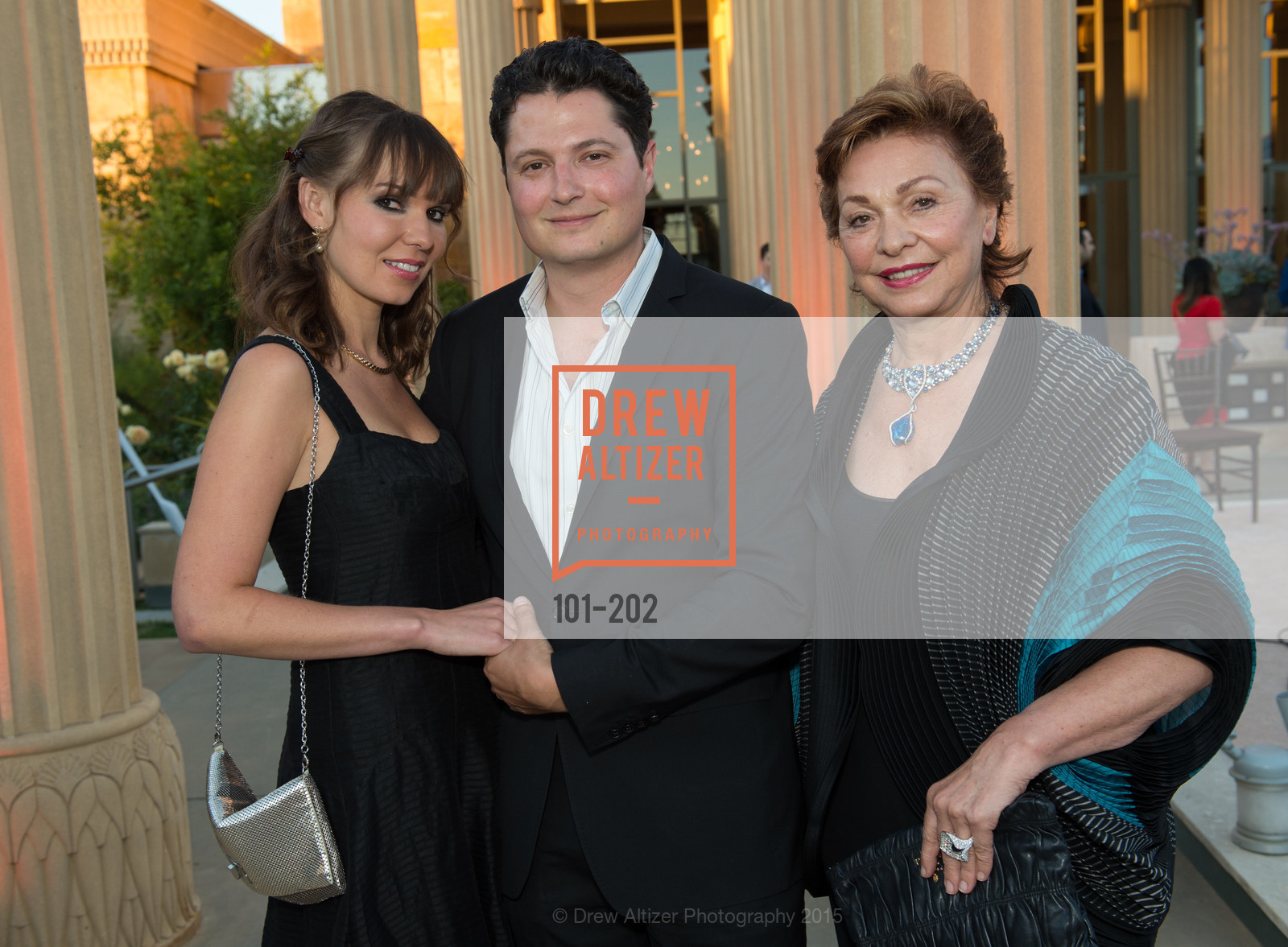 Olya Troxel, Serge Troxel, Maria Manetti Shrem, Festival del Sole Patron Dinner at Darioush Winery, Darioush Winery. 4240 Silverado Trail, July 24th, 2015,Drew Altizer, Drew Altizer Photography, full-service agency, private events, San Francisco photographer, photographer california