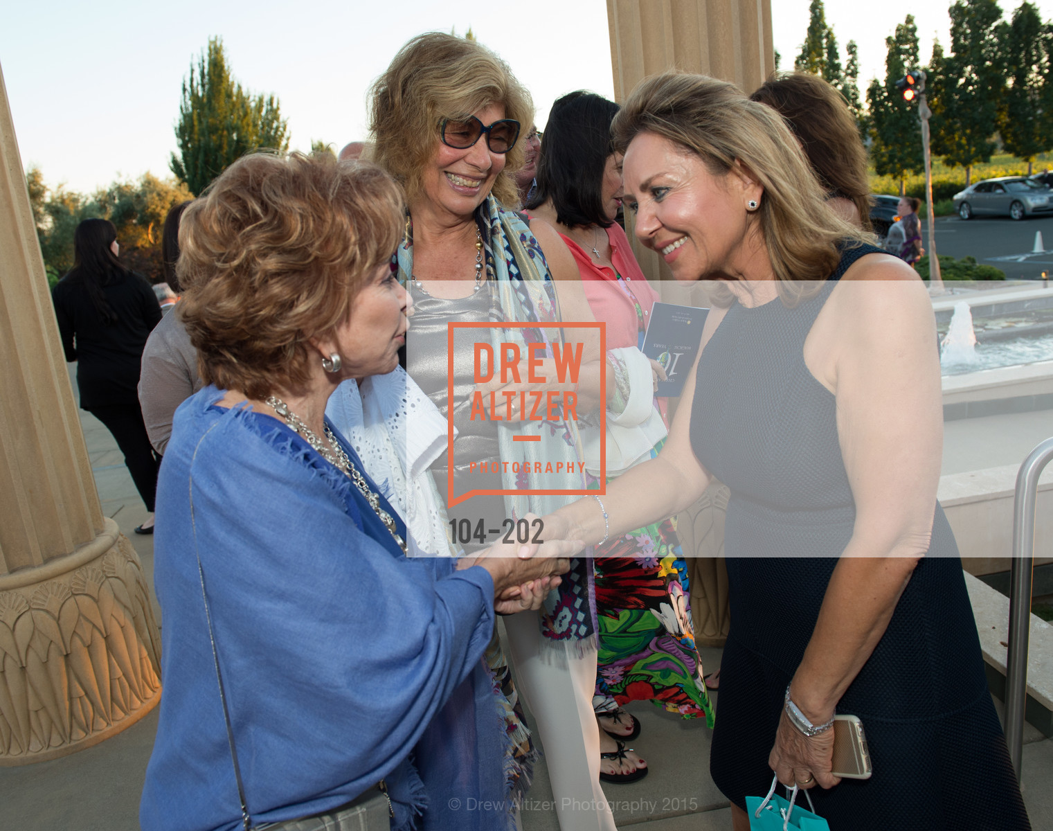 Isabel Allende, Valeria Huneeus, Shahpar Khaledi, Festival del Sole Patron Dinner at Darioush Winery, Darioush Winery. 4240 Silverado Trail, July 24th, 2015,Drew Altizer, Drew Altizer Photography, full-service agency, private events, San Francisco photographer, photographer california