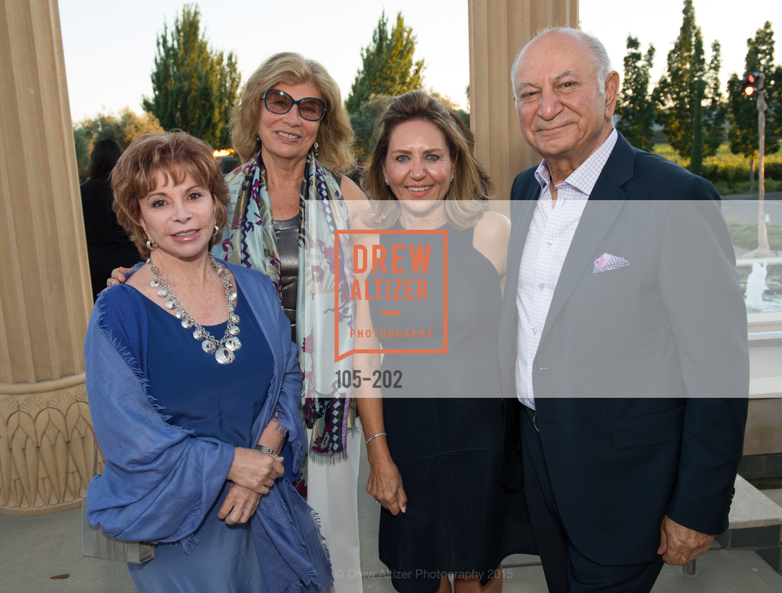 Isabel Allende, Valeria Huneeus, Shahpar Khaledi, Darioush Khaledi, Festival del Sole Patron Dinner at Darioush Winery, Darioush Winery. 4240 Silverado Trail, July 24th, 2015,Drew Altizer, Drew Altizer Photography, full-service event agency, private events, San Francisco photographer, photographer California