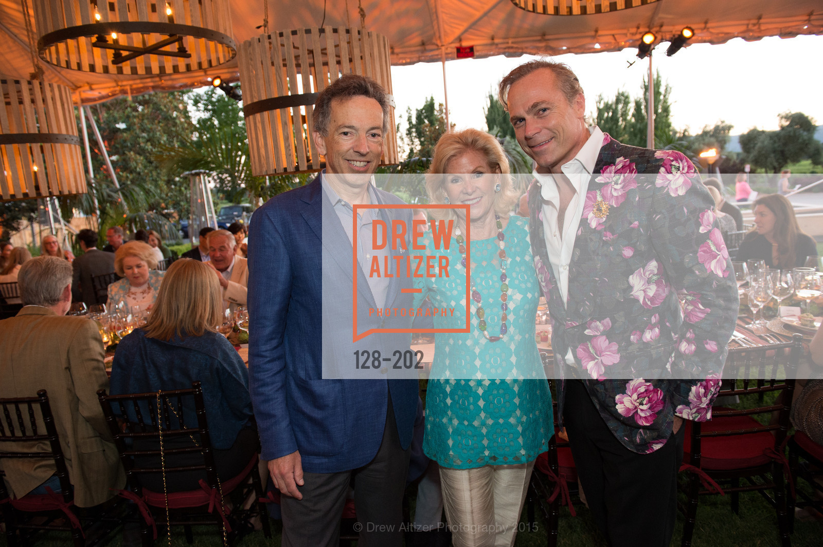 Rick Walker, Dede Wilsey, Jean-Charles Boisset, Festival del Sole Patron Dinner at Darioush Winery, Darioush Winery. 4240 Silverado Trail, July 24th, 2015,Drew Altizer, Drew Altizer Photography, full-service agency, private events, San Francisco photographer, photographer california