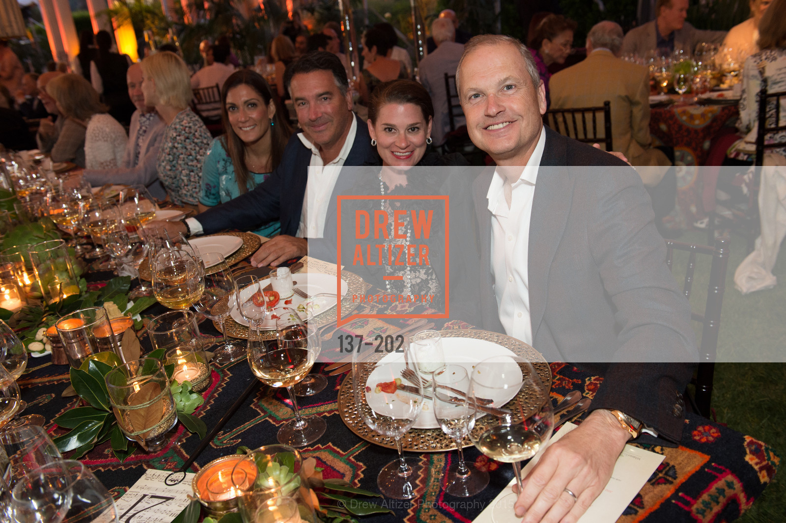 Heidi Mullens, Michael Polenske, Claire Stull, Steven Stull, Festival del Sole Patron Dinner at Darioush Winery, Darioush Winery. 4240 Silverado Trail, July 24th, 2015