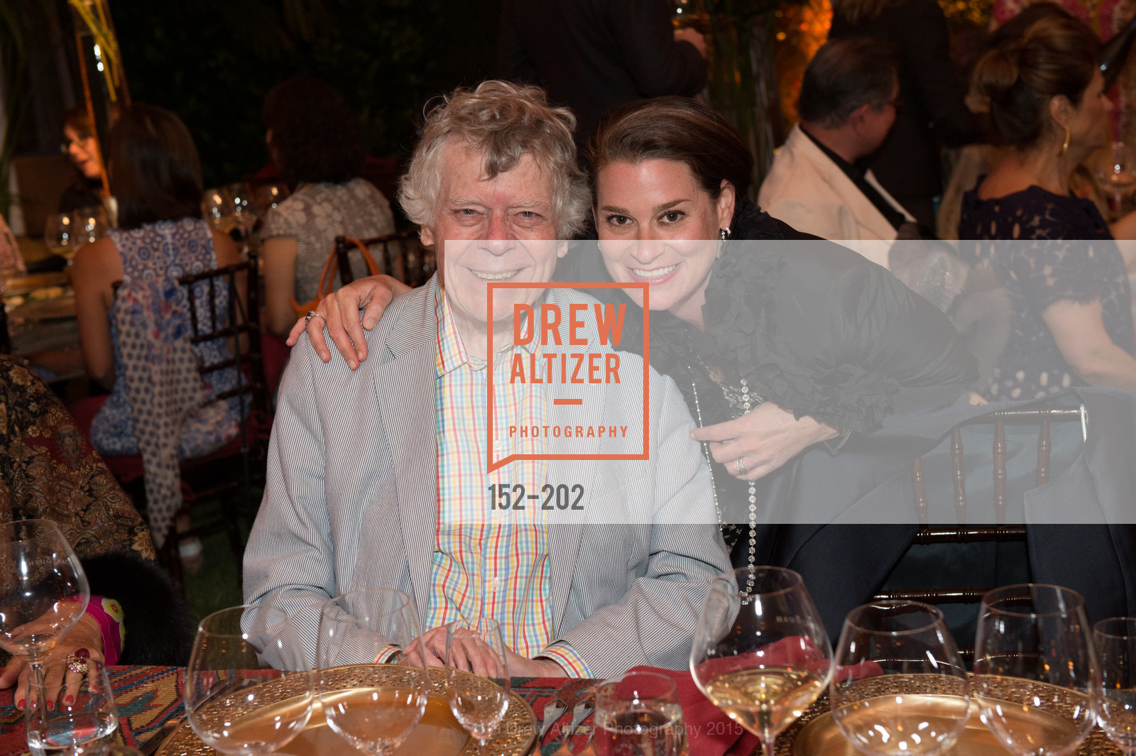 Gordon Getty, Claire Stull, Festival del Sole Patron Dinner at Darioush Winery, Darioush Winery. 4240 Silverado Trail, July 24th, 2015,Drew Altizer, Drew Altizer Photography, full-service agency, private events, San Francisco photographer, photographer california