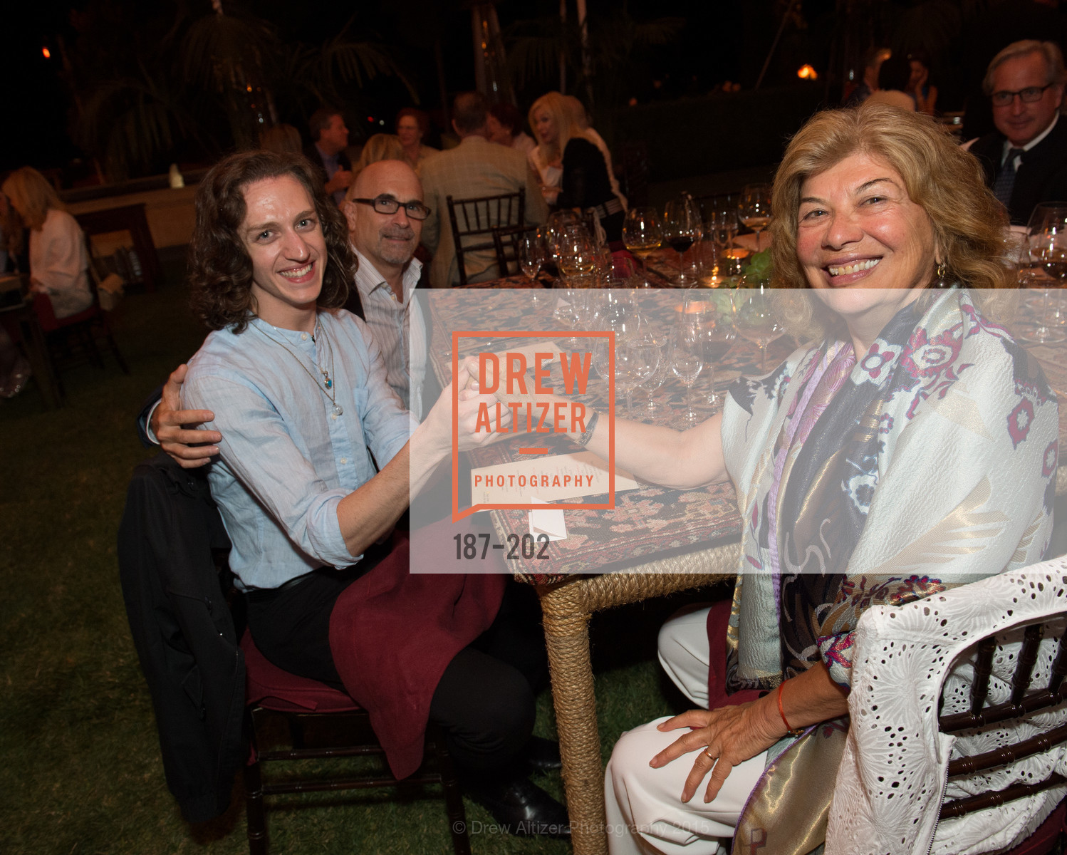 Joshua Thake, Tory Dobrin, Valeria Huneeus, Festival del Sole Patron Dinner at Darioush Winery, Darioush Winery. 4240 Silverado Trail, July 24th, 2015,Drew Altizer, Drew Altizer Photography, full-service agency, private events, San Francisco photographer, photographer california